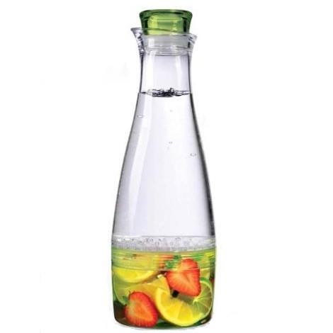 Кувшин Prodyne, цвет: прозрачный, зеленый, 1,5 лVT-1520(SR)Теперь вы можете наслаждаться натуральными фруктовыми напитками без особого труда. Просто положите свои любимые фрукты в нижнюю часть кувшина Prodyne, установите верхнюю секцию и залейте воду. Изделие выполнено из высококачественного акрила. Удобная пробка с силиконовой прокладкой надолго сохранит прекрасный аромат, а сетчатая перепонка между секциями удержит кусочки в нижней части для большего удобства. Несмотря на свой объем, кувшин отлично поместится в дверце большинства холодильников.Диаметр по верхнему краю: 7 см.Диаметр дна: 10 см.Высота с учетом крышки: 31,5 см.