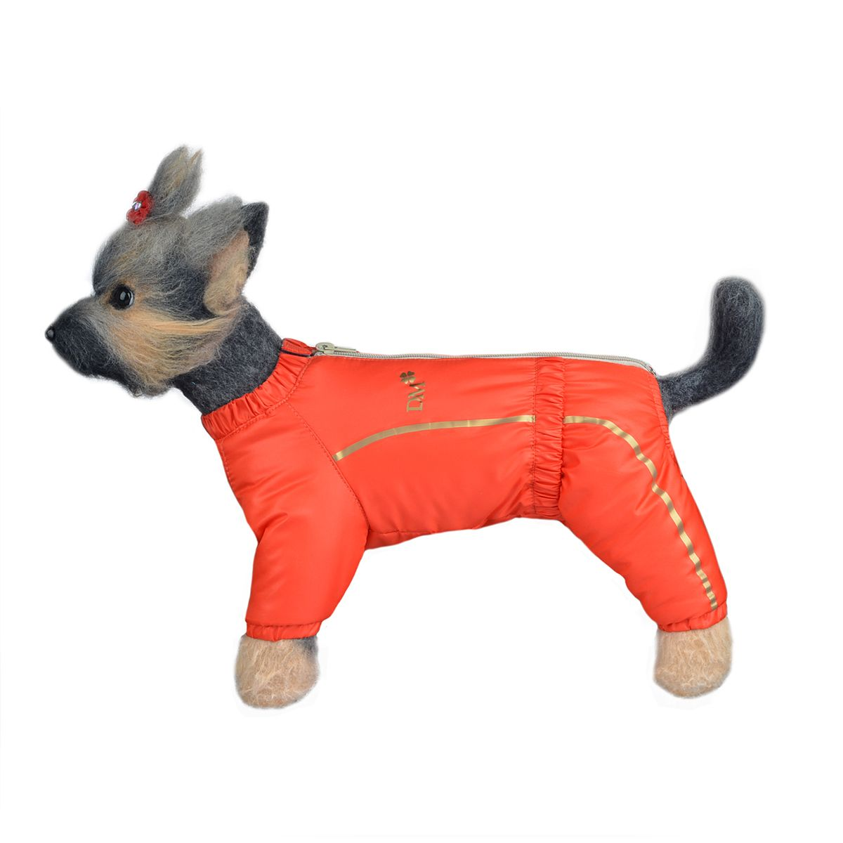 Комбинезон для собак Dogmoda Альпы, зимний, для девочки, цвет: оранжевый. Размер 4 (XL)DM-150349-4_оранжевыйтепленный синтепоном и искусственным мехом непромокаемый комбинезон практичного цвета на молнии. Закрытая зона живота. Абсолютное тепло и защищенность зимой. В новом сезонеDOGMODAрада предложить Вам стильную, современную, универсальную модель для создания базового гардероба любимого питомца – комбинезоны линии АЛЬПЫ. Дорогая простота комбинезонов этой линии подчеркнута высоким качеством материалов и безупречной элегантностью кроя, что отразит прекрасный вкус владельца. Линия АЛЬПЫ представлена моделями для любой погоды. Комбинезон на тонкой подкладке защитит Вашего питомца в сырую и холодную погоду сентября. Модель с подкладкой из мягкого флиса не даст любимцу продрогнуть на прогулке в ноябрьское ненастье. А непромокаемый комбинезон на меховой подкладке с утеплителем на основе синтепона позволит испытать не сравнимое удовольствие от снежных игр и забав. Чтобы каждый мог выбрать одежду питомцу по характеру и настроению,DOGMODAпредлагает многообразие цветовых решений отдельно для девочек и мальчиков.
