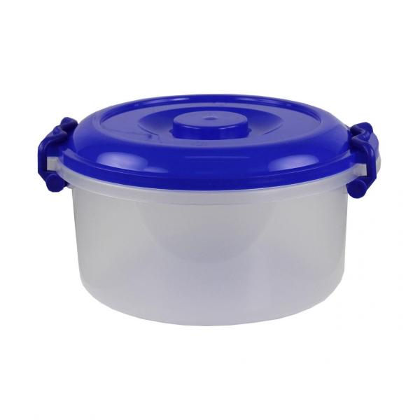 Контейнер Альтернатива, цвет: прозрачный, синий, 7 лRG-D31SКонтейнер Альтернатива выполнен из прочного пластика, предназначен для хранения различных мелких вещей.Прозрачные стенки позволяют видеть содержимое. Контейнер плотно закрывается крышкой с двумя защелками. В таком контейнере ваши вещи будут защищены от пыли, грязи и влаги.Объем: 7 л.