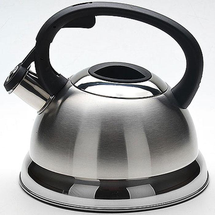 Чайник Mayer & Boch, со свистком, 2,3 л. 2267054 009312Чайник со свистком Mayer & Boch изготовлен из высококачественной нержавеющей стали, что обеспечивает долговечность использования. Капсульное дно обеспечивает равномерный и быстрый нагрев, поэтому вода закипает гораздо быстрее, чем в обычных чайниках. Носик чайника оснащен откидным свистком, звуковой сигнал которого подскажет, когда закипит вода. Свисток открывается нажатием кнопки на ручке. Чайник оснащен эргономичной пластиковой ручкой. Чайник Mayer & Boch - качественное исполнение и стильное решение для вашей кухни. Подходит для всех типов плит, включая индукционные. Можно мыть в посудомоечной машине.Высота чайника (без учета ручки и крышки): 12,5 см.Высота чайника (с учетом ручки и крышки): 21 см.Диаметр чайника (по верхнему краю): 10 см.