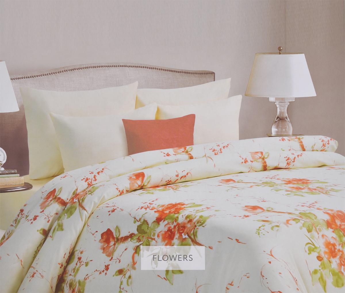 Комплект белья Mona Liza Flowers, семейный, наволочки 50х70, цвет: бежевый, светло-зеленый. 562407/6CLP446Комплект белья Mona Liza Flowers, выполненный из батиста (100% хлопок), состоит из двух пододеяльников, простыни и двух наволочек. Изделия оформлены красивым цветочным рисунком. Батист - тонкая, легкая, полупрозрачная натуральная ткань полотняного переплетения. Батист, несомненно, является одной из самых аристократичных и совершенных тканей. Он отличается нежностью, трепетной утонченностью и изысканностью. Ткань с незначительной сминаемостью, хорошо сохраняющая цвет при стирке, легкая, с прекрасными гигиеническими показателями. В комплект входит: Пододеяльник - 2 шт. Размер: 145 см х 210 см. Простыня - 1 шт. Размер: 215 см х 240 см. Наволочка - 2 шт. Размер: 50 см х 70 см. Рекомендации по уходу: - Ручная и машинная стирка 40°С, - Гладить при температуре не более 150°С, - Не использовать хлорсодержащие средства, - Щадящая сушка, - Не подвергать химчистке.