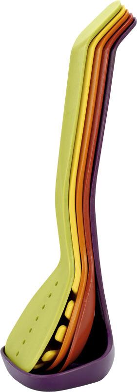 Набор кухонных принадлежностей Calve, 5 предметов. CL-136954 009312Набор кухонных принадлежностей Calve состоит из половника, лопатки с прорезями, сервировочной ложки, ложки с прорезями и ложки для спагетти. Приборы выполнены из нейлона. В наборе содержатся все необходимые на кухне принадлежности, которые могут вам в приготовлении пищи. Стильный дизайн сделает такой набор отличным украшением кухни. Можно мыть в посудомоечной машине.Общая длина половника: 31 см.Размер рабочей поверхности половника: 10,5 х 9 х 3,5 см.Общая длина лопатки с прорезями: 32 см.Размер рабочей поверхности лопатки с прорезями: 8 х 10,5 см.Общая длина сервировочной ложки: 31 см.Размер рабочей поверхности сервировочной ложки: 9,5 х 8 х 3 см.Общая длина ложки с прорезями: 31,5 см.Размер рабочей поверхности ложки с прорезями: 8 х 9 х 3 см. Общая длина ложки для спагетти: 32 см.Размер рабочей поверхности ложки для спагетти: 8,5 х 3,5 х 8 см.