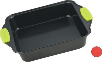 Форма для выпечки Calve, с антипригарным покрытием, цвет: серый, зеленый, 20,5 х 20,5 см391602Форма для выпечки Calve изготовлена из высококачественной углеродистой стали с антипригарным покрытием и оснащена ручками с силиконовыми вставками. Форма равномерно и быстро прогревается, что способствует лучшему пропеканию пищи. Ее легко чистить. Готовая выпечка без труда извлекается. Форма подходит для использования в духовке. Перед каждым использованием ее необходимосмазать небольшим количеством масла. Изделие снабжено не нагревающимися ручками с силиконовым покрытием. Простая в уходе и долговечная в использовании форма для выпечки Calve станет верным помощником в создании ваших кулинарных шедевров. Можно мыть в посудомоечной машине.Размер формы (с учетом ручек): 27,5 х 22 х 5 см. Внутренний размер формы: 20,5 х 20,5 х 5 см.