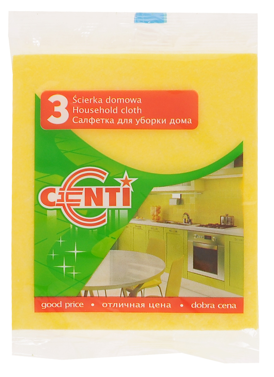 Салфетка York Centi, 3 штK100Универсальная салфетка York Centi предназначена для очистки любых поверхностей: посуды, раковин, кафеля, газовых и электрических плит. Выполнена из вискозы, полиэстера и полипропилена. Салфетка подходит для сухой и влажной уборки.