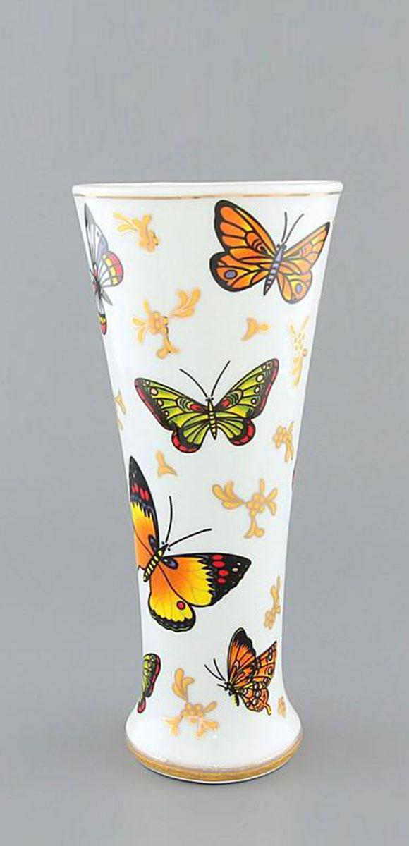 Ваза Elan Gallery Бабочки, высота 18 смFS-91909Декоративная ваза украсит Ваш интерьер и будет прекрасным подарком для Ваших близких! Оригинальный дизайн наполнит Ваш дом праздничным настроением. Изделие имеет подарочную упаковку, поэтому станет желанным подарком для Ваших близких!Размер вазы: 8 х 8 х 18 см.