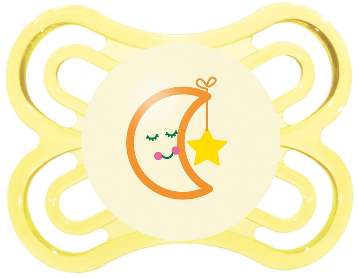MAM Пустышка Perfect Night Месяц от 0 до 6 месяцев цвет желтый