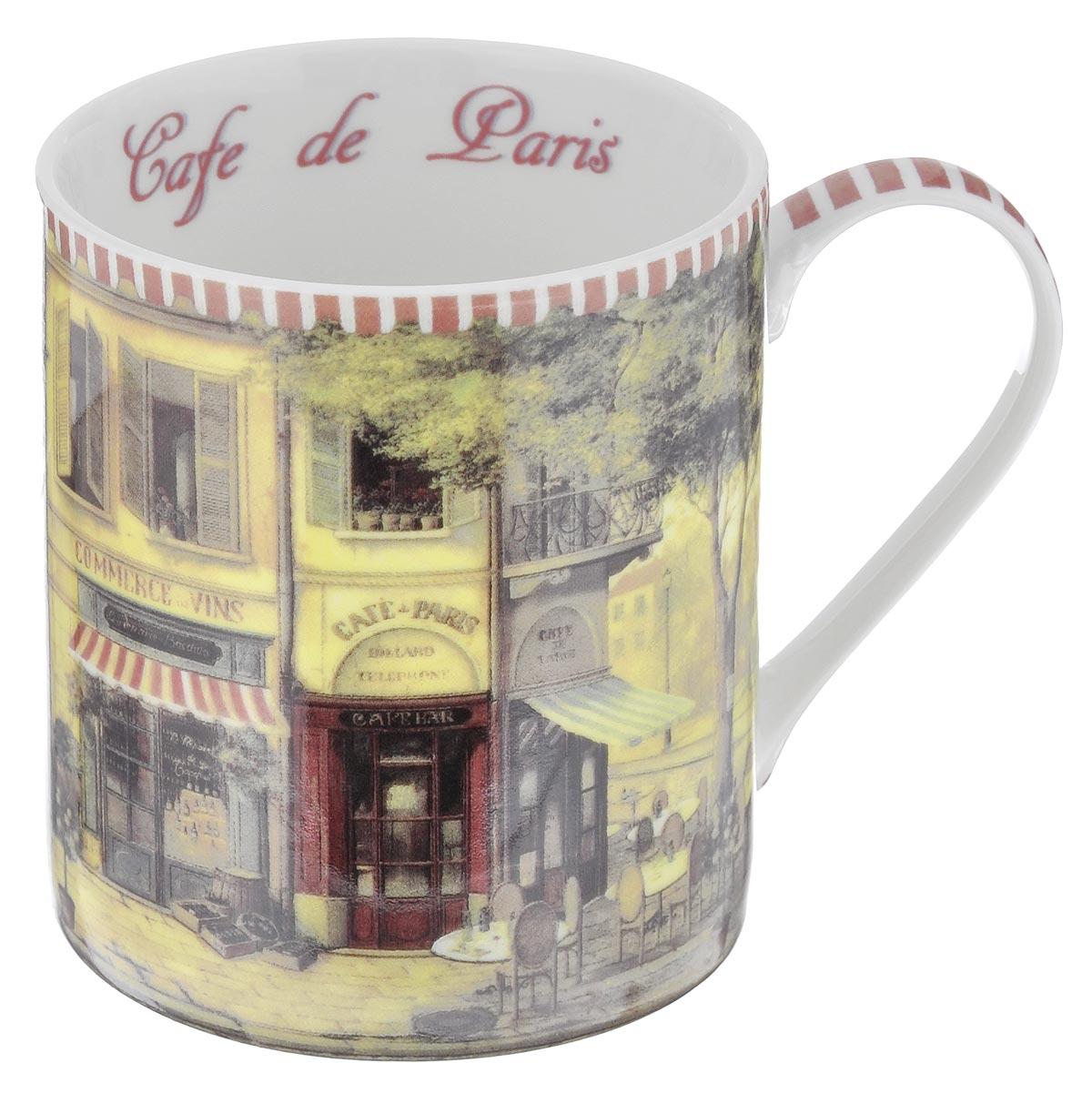Кружка GiftnHome Парижское кафе, 400 мл04C1208-LILКружка GiftnHome Парижское кафе изготовлена из высококачественного костяного фарфора, покрытого слоем сверкающей глазури. Внешние стенки оформлены красочным изображением кофейни. Внутренняя поверхность декорирована надписью: Cafe de Paris. Кружка отличается высоким качеством и стильным дизайном. Она станет прекрасным подарком к любому случаю. Можно использовать в СВЧ и посудомоечной машине.