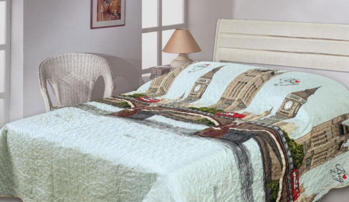 Покрывало Cool Bridge, цвет: серый, бежевый, коричневый, 210 см х 235 смFD-59Изящное стеганое покрывало Cool Bridge гармонично впишется в интерьер вашего дома и создаст атмосферу уюта и комфорта. Покрывало выполнено из высококачественного полиэстера и оформлено оригинальным рисунком.В комплекте - удобный текстильный чехол с затягивающимися шнурками для удобной переноски.Такое покрывало согреет в прохладную погоду и будет превосходно дополнять интерьер вашей спальни. Высочайшее качество материала гарантирует безопасность не только взрослых, но и самых маленьких членов семьи.Покрывало может подчеркнуть любой стиль интерьера, задать ему нужный тон - от игривого до ностальгического. Покрывало Cool Bridge станет отличным подарком, который будет всегда актуален, особенно для ваших родных и близких, ведь вы дарите им частичку своего тепла!Размер: 210 см х 235 см.