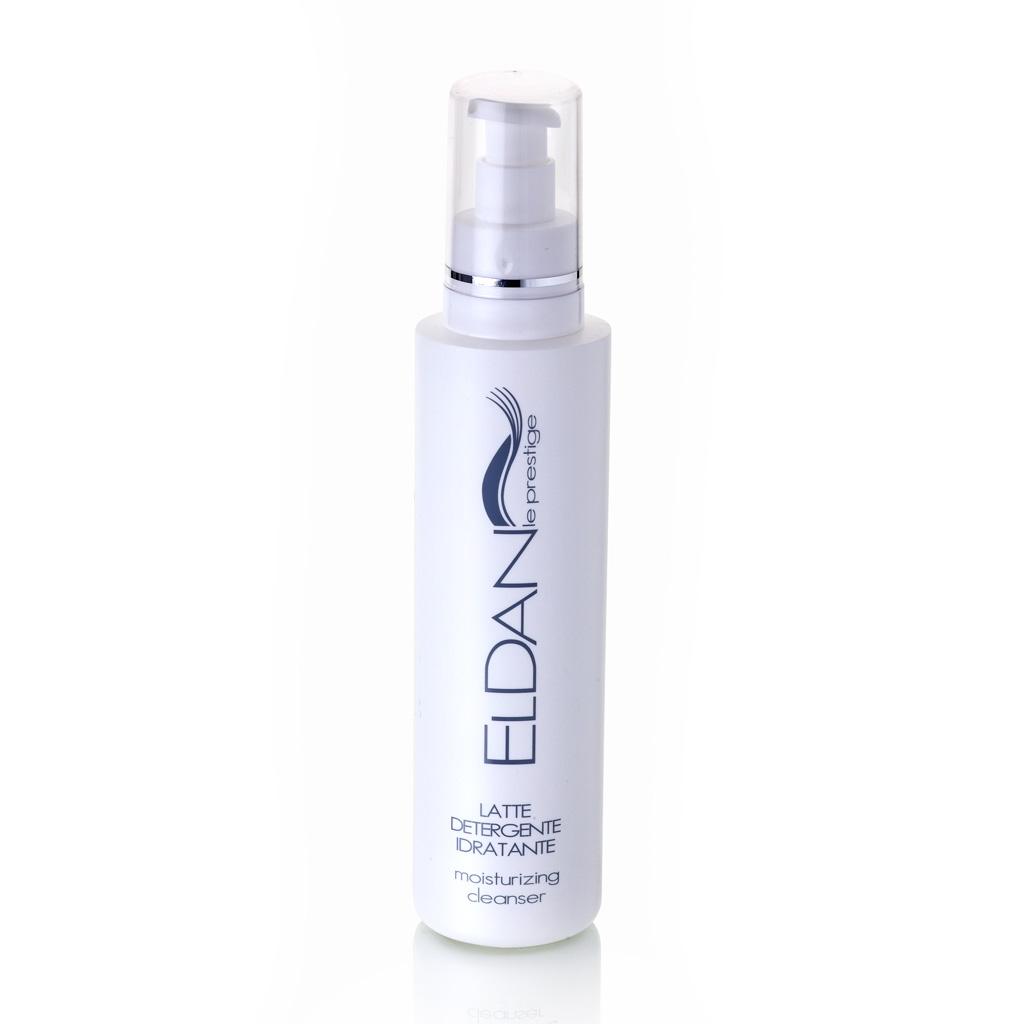 ELDAN cosmetics Очищающее увлажняющее молочко для лица Le Prestige , 250 млFS-00897Средство для демакияжа и очищения нормальной, комбинированной и сухой кожи. Бережно устраняет загрязнения, готовит кожу лица к последующим этапам ухода. Увлажняет, смягчает, снимает раздражение и шелушение, глубоко очищает, не повреждая липидный слой, оставляет ощущение чистоты и свежести.