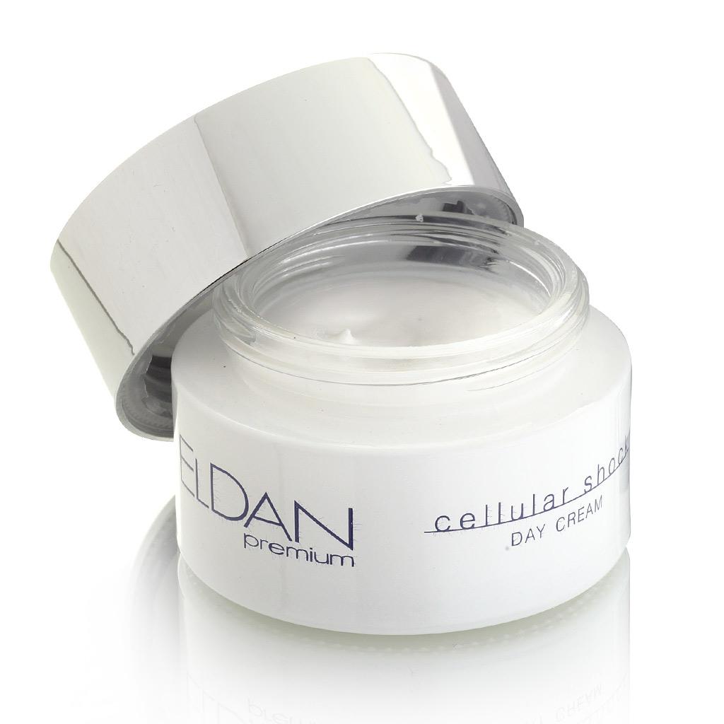 ELDAN cosmetics Дневной крем для лица Premium cellular shock, 50 млELD-42Предназначен для сухой, атоничной кожи с выраженными возрастными изменениями и сниженным тургором, обеспечивает мощный лифтинг-эффект. Матриксил (пальмитоилпентапептид-4), входящий в состав крема,оказывает омолаживающее и разглаживающее действие, стимулирует выработку собственного коллагена, повышая упругость и эластичность кожи. После применения крема мелкие морщины разглаживаются, более выраженные становятся менее заметные, кожа приобретает здоровый и ухоженный вид.