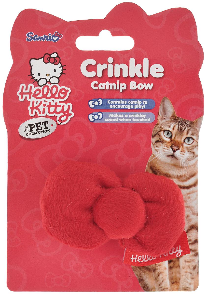 Игрушка для кошек Hello Kitty БантикV-302Игрушка для кошек Hello Kitty Бантик обязательно понравится вашему питомцу. Игрушка выполнена из мехового текстиля в виде красного бантика. Бантик наполнен кошачьей мятой, для привлечения внимания кошки. При игре издает шуршащий звук. Такая игрушка обязательно придется по душе вашей пушистой любимице.