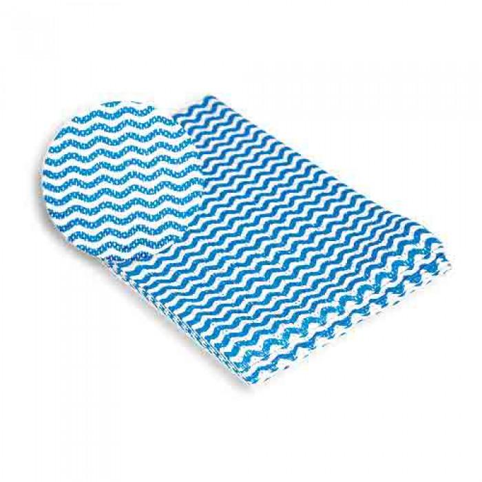 Салфетка для кухни York Макарена, цвет: синий, 35 см х 50 см, 5 шт