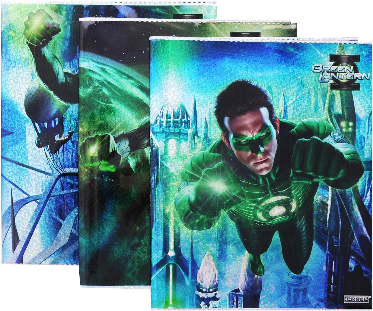 Proff Набор обложек для тетрадей и дневников Green Lantern 3 шт730396Прочная обложка Proff Green Lantern, изготовленная из ПВХ, защитит поверхность тетради или дневника от изнашивания и загрязнений. Изделие оформлено ярким изображением любимого мультипликационного героя. В комплект входят 3 обложки с разными рисунками.
