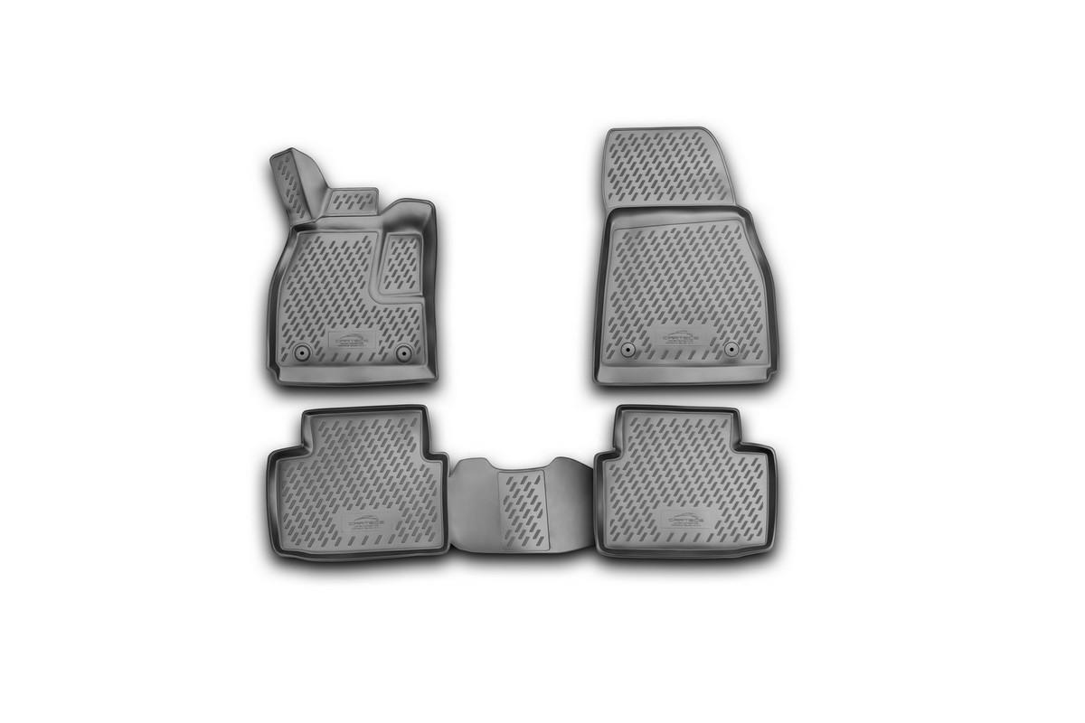 Набор автомобильных 3D-ковриков Novline-Autofamily для Chevrolet Malibu, 2012->, в салон, 4 шт300159Набор Novline-Autofamily состоит из 4 ковриков, изготовленных из полиуретана.Основная функция ковров - защита салона автомобиля от загрязнения и влаги. Это достигается за счет высоких бортов, перемычки на тоннель заднего ряда сидений, элементов формы и текстуры, свойств материала, а также запатентованной технологией 3D-перемычки в зоне отдыха ноги водителя, что обеспечивает дополнительную защиту, сохраняя салон автомобиля в первозданном виде.Материал, из которого сделаны коврики, обладает антискользящими свойствами. Для фиксации ковров в салоне автомобиля в комплекте с ними используются специальные крепежи. Форма передней части водительского ковра, уходящая под педаль акселератора, исключает нештатное заедание педалей.Набор подходит для Chevrolet Malibu с 2012 года выпуска.