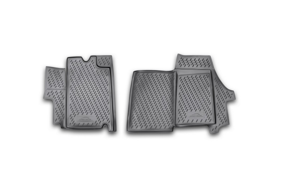 Набор автомобильных ковриков Novline-Autofamily для Citroen Jumper 2009-, в салон, 2 штFS-80264Набор автомобильных ковриков Novline-Autofamily, изготовленный из полиуретана, состоит из 2 ковриков, которые учитывают все особенности каждой модели автомобиля и полностью повторяют контуры пола. Полиуретановые автомобильные коврики для салона произведены из высококачественного материала, который держит форму, прочный и не пачкает обувь. Коврики в салон не только улучшат внешний вид салона вашего автомобиля, но и надежно уберегут его от пыли, грязи и сырости, а значит, защитят кузов от коррозии. Полиуретановые коврики для автомобиля гладкие, приятные и не пропускают влагу. Ковры для автомобилей надежно крепятся на полу и не скользят, что очень важно во время движения. Чистятся коврики очень просто: как при помощи автомобильного пылесоса, так и различными моющими средствами. Набор подходит для Citroen Jumper с 2009 года выпуска.
