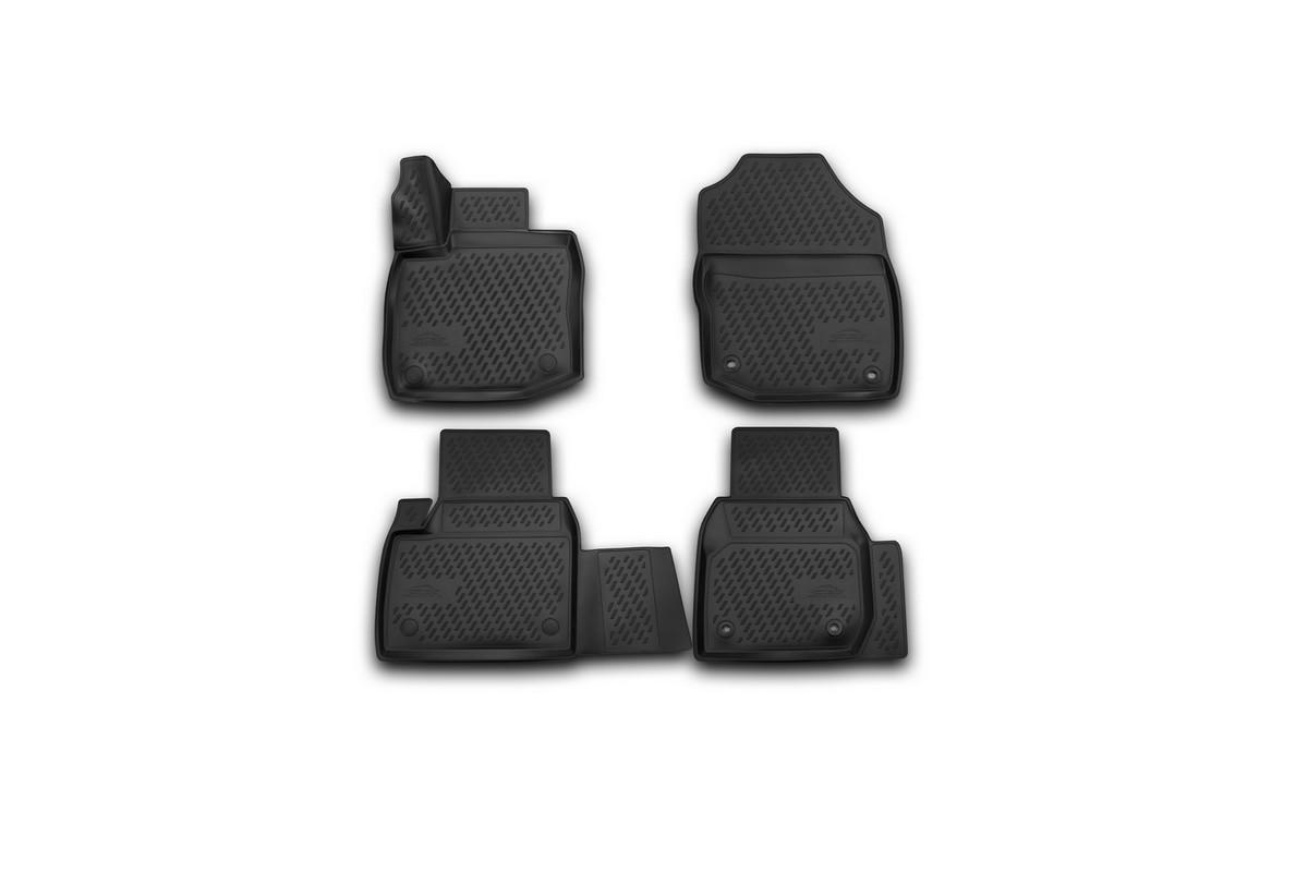 Набор автомобильных 3D-ковриков Novline-Autofamily для Honda Civic 5D, 2012->, хэтчбек, в салон, 4 шт. CARHND00009300144Набор Novline-Autofamily состоит из 4 ковриков, изготовленных из полиуретана.Основная функция ковров - защита салона автомобиля от загрязнения и влаги. Это достигается за счет высоких бортов, перемычки на тоннель заднего ряда сидений, элементов формы и текстуры, свойств материала, а также запатентованной технологией 3D-перемычки в зоне отдыха ноги водителя, что обеспечивает дополнительную защиту, сохраняя салон автомобиля в первозданном виде.Материал, из которого сделаны коврики, обладает антискользящими свойствами. Для фиксации ковров в салоне автомобиля в комплекте с ними используются специальные крепежи. Форма передней части водительского ковра, уходящая под педаль акселератора, исключает нештатное заедание педалей.Набор подходит для Honda Civic 5D хэтчбек с 2012 года выпуска.