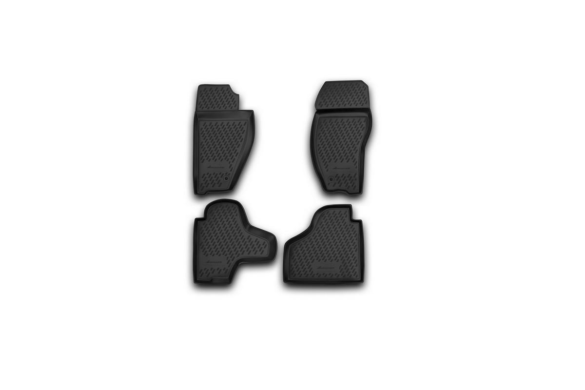 Набор автомобильных ковриков Novline-Autofamily для Jeep Cherokee 2008-, в салон, 4 штNLC.48.68.B10Набор автомобильных ковриков Novline-Autofamily, изготовленный из полиуретана, состоит из 4 ковриков, которые учитывают все особенности каждой модели автомобиля и полностью повторяют контуры пола. Полиуретановые автомобильные коврики для салона произведены из высококачественного материала, который держит форму, прочный и не пачкает обувь. Коврики в салон не только улучшат внешний вид салона вашего автомобиля, но и надежно уберегут его от пыли, грязи и сырости, а значит, защитят кузов от коррозии. Полиуретановые коврики для автомобиля гладкие, приятные и не пропускают влагу. Ковры для автомобилей надежно крепятся на полу и не скользят, что очень важно во время движения. Чистятся коврики очень просто: как при помощи автомобильного пылесоса, так и различными моющими средствами. Набор подходит для Jeep Cherokee с 2008 года выпуска.