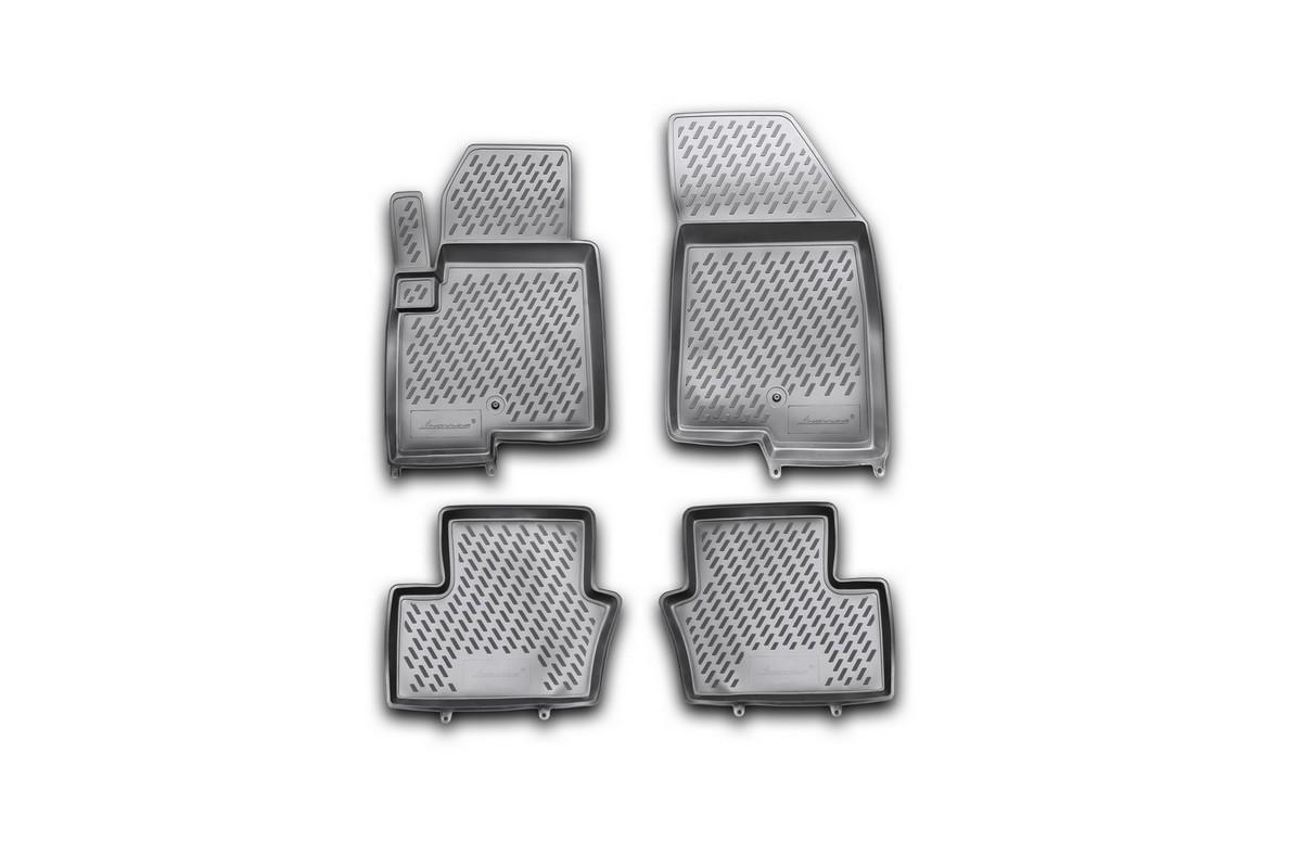 Набор автомобильных ковриков Novline-Autofamily для Jeep Compass New 2011-, в салон, 4 шт21395599Набор автомобильных ковриков Novline-Autofamily, изготовленный из полиуретана, состоит из 4 ковриков, которые учитывают все особенности каждой модели автомобиля и полностью повторяют контуры пола. Полиуретановые автомобильные коврики для салона произведены из высококачественного материала, который держит форму, прочный и не пачкает обувь. Коврики в салон не только улучшат внешний вид салона вашего автомобиля, но и надежно уберегут его от пыли, грязи и сырости, а значит, защитят кузов от коррозии. Полиуретановые коврики для автомобиля гладкие, приятные и не пропускают влагу. Ковры для автомобилей надежно крепятся на полу и не скользят, что очень важно во время движения. Чистятся коврики очень просто: как при помощи автомобильного пылесоса, так и различными моющими средствами. Набор подходит для Jeep Compass New с 2011 года выпуска.