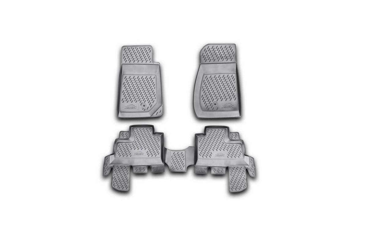 Набор автомобильных ковриков Novline-Autofamily для Jeep Wrangler 4 doors 2007-, в салон, 4 шт21395599Набор автомобильных ковриков Novline-Autofamily, изготовленный из полиуретана, состоит из 4 ковриков, которые учитывают все особенности каждой модели автомобиля и полностью повторяют контуры пола. Полиуретановые автомобильные коврики для салона произведены из высококачественного материала, который держит форму, прочный и не пачкает обувь. Коврики в салон не только улучшат внешний вид салона вашего автомобиля, но и надежно уберегут его от пыли, грязи и сырости, а значит, защитят кузов от коррозии. Полиуретановые коврики для автомобиля гладкие, приятные и не пропускают влагу. Ковры для автомобилей надежно крепятся на полу и не скользят, что очень важно во время движения. Чистятся коврики очень просто: как при помощи автомобильного пылесоса, так и различными моющими средствами. Набор подходит для Jeep Wrangler 4 doors с 2007 года выпуска.
