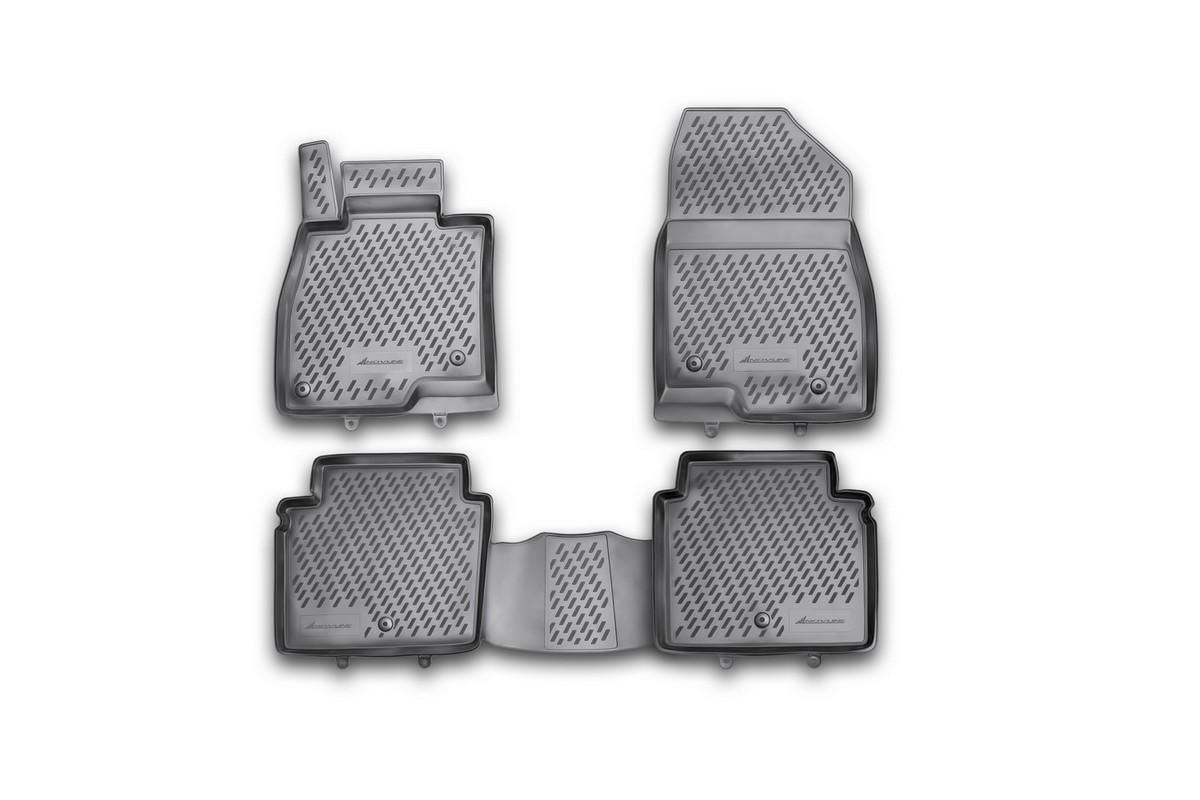 Набор автомобильных ковриков Novline-Autofamily для Mazda 6 2012-2015, 2015-, седан, в салон, 4 шт21395599Набор автомобильных ковриков Novline-Autofamily, изготовленный из полиуретана, состоит из 4 ковриков, которые учитывают все особенности каждой модели автомобиля и полностью повторяют контуры пола. Полиуретановые автомобильные коврики для салона произведены из высококачественного материала, который держит форму, прочный и не пачкает обувь. Коврики в салон не только улучшат внешний вид салона вашего автомобиля, но и надежно уберегут его от пыли, грязи и сырости, а значит, защитят кузов от коррозии. Полиуретановые коврики для автомобиля гладкие, приятные и не пропускают влагу. Ковры для автомобилей надежно крепятся на полу и не скользят, что очень важно во время движения. Чистятся коврики очень просто: как при помощи автомобильного пылесоса, так и различными моющими средствами. Набор подходит для Mazda 6 седан 2012-2015, 2015 и позднее годов выпуска.