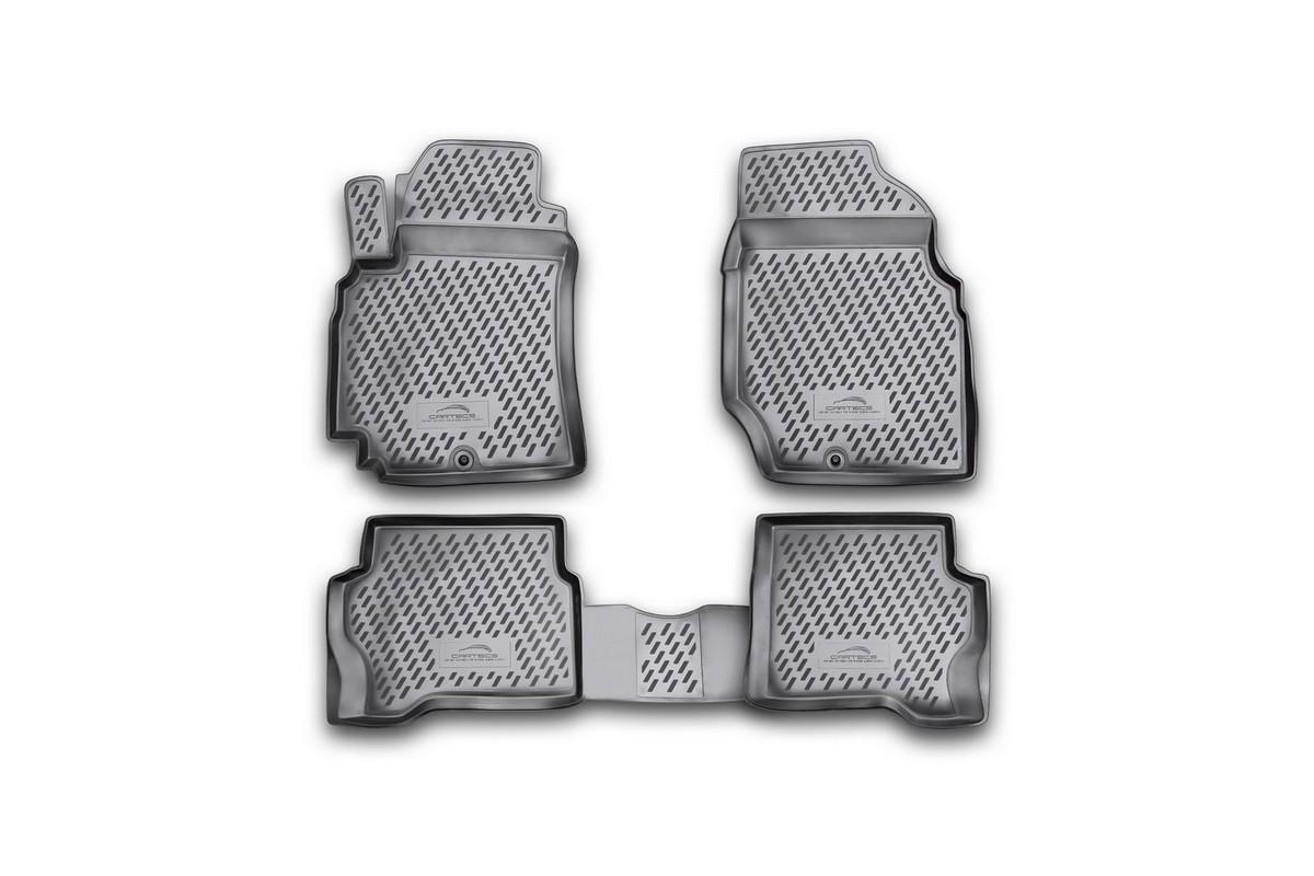 Набор автомобильных ковриков Novline-Autofamily для Nissan Almera Classic 2006-, в салон, 4 шт300240Набор автомобильных ковриков Novline-Autofamily, изготовленный из полиуретана, состоит из 4 ковриков, которые учитывают все особенности каждой модели автомобиля и полностью повторяют контуры пола. Полиуретановые автомобильные коврики для салона произведены из высококачественного материала, который держит форму, прочный и не пачкает обувь. Коврики в салон не только улучшат внешний вид салона вашего автомобиля, но и надежно уберегут его от пыли, грязи и сырости, а значит, защитят кузов от коррозии. Полиуретановые коврики для автомобиля гладкие, приятные и не пропускают влагу. Ковры для автомобилей надежно крепятся на полу и не скользят, что очень важно во время движения. Чистятся коврики очень просто: как при помощи автомобильного пылесоса, так и различными моющими средствами. Набор подходит для Nissan Almera Classic с 2006 года выпуска.