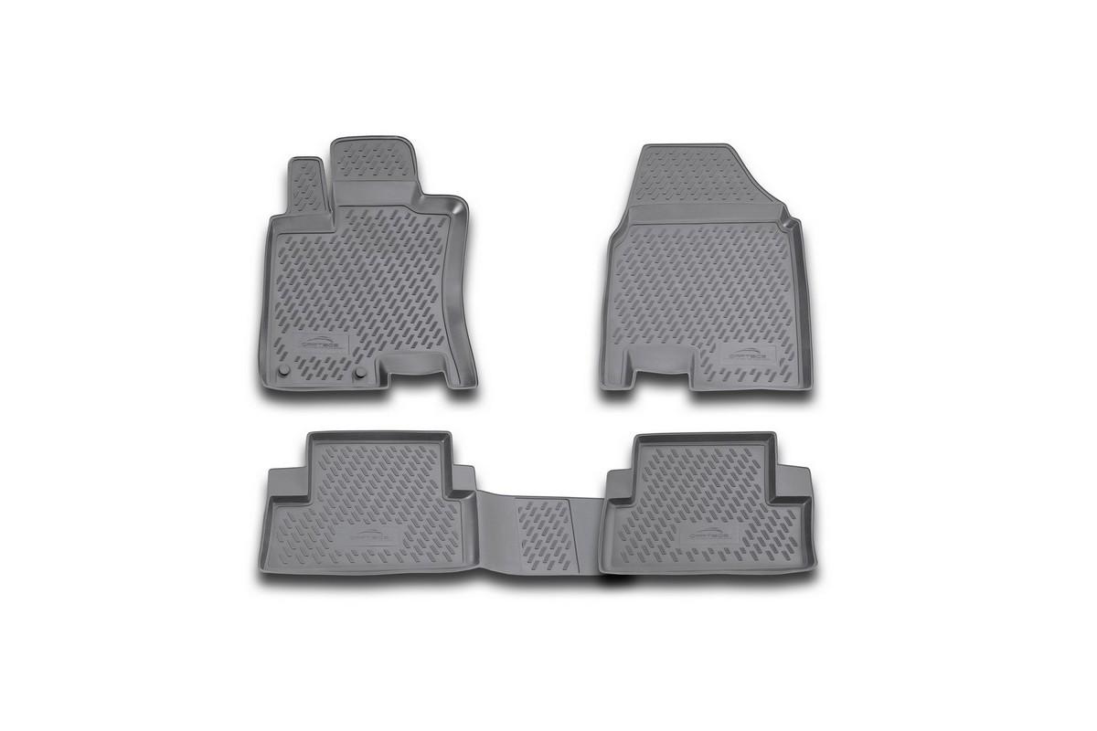 Коврики в салон автомобиля Novline-Autofamily для Nissan Qashqai, 2007 - 2014, 4 штDH2400D/ORКоврики Novline-Autofamily улучшат внешний вид салона автомобиля и надежно уберегут его от пыли, грязи и сырости, а значит, защитят кузов от коррозии. Полиуретановые коврики гладкие, приятные и не пропускает влагу. Полиуретановые автомобильные коврики произведены из высококачественного материала, который держит форму и не пачкает обувь. Коврики надежно крепятся на полу и не скользят, что очень важно во время движения, особенно для водителя. Изделия из полиуретана надежно удерживают грязь и влагу, при этом всегда выглядят довольно опрятно. И чистятся они очень просто: как при помощи автомобильного пылесоса, так и различными моющими средствами.