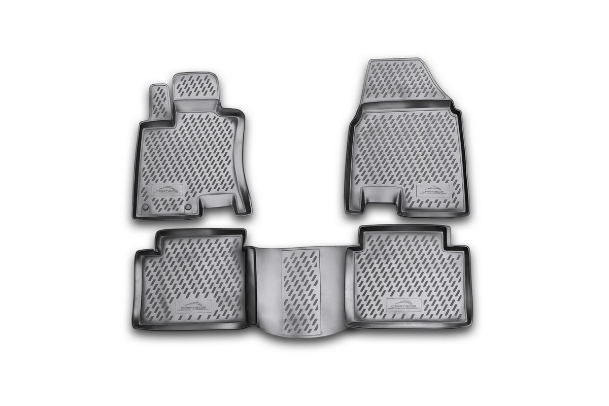 Набор автомобильных ковриков Novline-Autofamily для Nissan Qashqai+2 2008-2014, в салон, 4 шт. CARNIS0002341498Набор автомобильных ковриков Novline-Autofamily, изготовленный из полиуретана, состоит из 4 ковриков, которые учитывают все особенности каждой модели автомобиля и полностью повторяют контуры пола. Полиуретановые автомобильные коврики для салона произведены из высококачественного материала, который держит форму, прочный и не пачкает обувь. Коврики в салон не только улучшат внешний вид салона вашего автомобиля, но и надежно уберегут его от пыли, грязи и сырости, а значит, защитят кузов от коррозии. Полиуретановые коврики для автомобиля гладкие, приятные и не пропускают влагу. Ковры для автомобилей надежно крепятся на полу и не скользят, что очень важно во время движения. Чистятся коврики очень просто: как при помощи автомобильного пылесоса, так и различными моющими средствами. Набор подходит для Nissan Qashqai+2 2008-2014 годов выпуска.