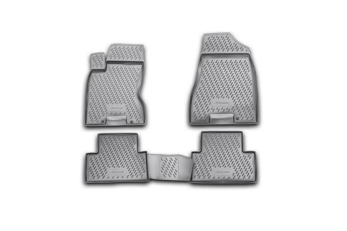 Набор автомобильных ковриков Novline-Autofamily для Nissan X-Trail (T31) 2007-2010, 2011-02/2015, в салон, 4 шт. CARNIS00031g коврики в салон nissan x trail t31 2007 2010 2011 02 2015 4 шт полиуретан carnis00031