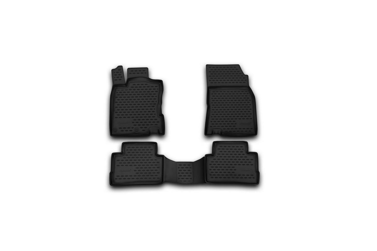 Набор автомобильных ковриков Novline-Autofamily для Nissan Qashqai 2014-, в салон, 4 шт94672Набор автомобильных ковриков Novline-Autofamily, изготовленный из полиуретана, состоит из 4 ковриков, которые учитывают все особенности каждой модели автомобиля и полностью повторяют контуры пола. Полиуретановые автомобильные коврики для салона произведены из высококачественного материала, который держит форму, прочный и не пачкает обувь. Коврики в салон не только улучшат внешний вид салона вашего автомобиля, но и надежно уберегут его от пыли, грязи и сырости, а значит, защитят кузов от коррозии. Полиуретановые коврики для автомобиля гладкие, приятные и не пропускают влагу. Ковры для автомобилей надежно крепятся на полу и не скользят, что очень важно во время движения. Чистятся коврики очень просто: как при помощи автомобильного пылесоса, так и различными моющими средствами. Набор подходит для Nissan Qashqai с 2014 года выпуска.