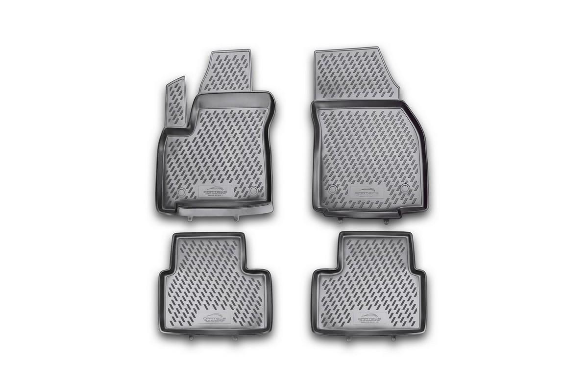 Набор автомобильных ковриков Novline-Autofamily для Opel Meriva 03/2010-, в салон, 4 штVT-1520(SR)Набор автомобильных ковриков Novline-Autofamily, изготовленный из полиуретана, состоит из 4 ковриков, которые учитывают все особенности каждой модели автомобиля и полностью повторяют контуры пола. Полиуретановые автомобильные коврики для салона произведены из высококачественного материала, который держит форму, прочный и не пачкает обувь. Коврики в салон не только улучшат внешний вид салона вашего автомобиля, но и надежно уберегут его от пыли, грязи и сырости, а значит, защитят кузов от коррозии. Полиуретановые коврики для автомобиля гладкие, приятные и не пропускают влагу. Ковры для автомобилей надежно крепятся на полу и не скользят, что очень важно во время движения. Чистятся коврики очень просто: как при помощи автомобильного пылесоса, так и различными моющими средствами. Набор подходит для Opel Meriva с марта 2010 года выпуска.