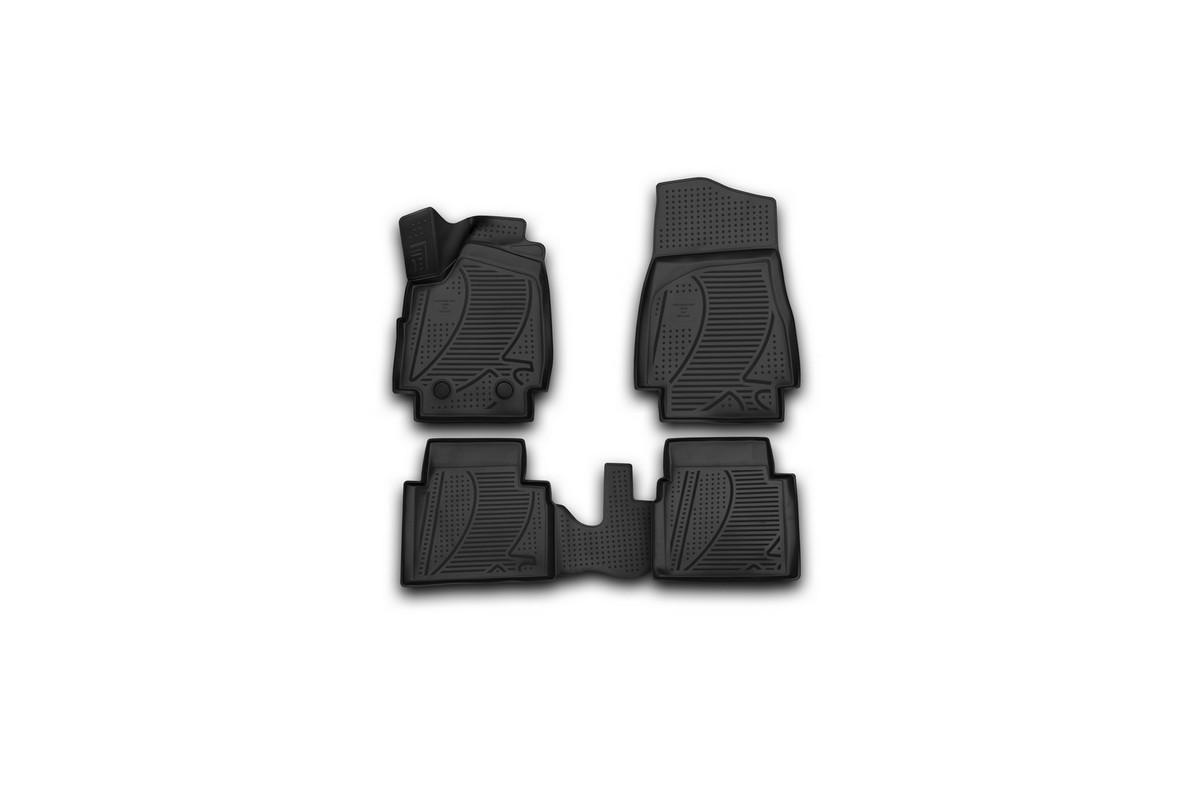 Набор автомобильных 3D-ковриков Novline-Autofamily для Lada 4x4 3D, 2009->, в салон, 4 штВетерок 2ГФНабор Novline-Autofamily состоит из 4 ковриков, изготовленных из полиуретана.Основная функция ковров - защита салона автомобиля от загрязнения и влаги. Это достигается за счет высоких бортов, перемычки на тоннель заднего ряда сидений, элементов формы и текстуры, свойств материала, а также запатентованной технологией 3D-перемычки в зоне отдыха ноги водителя, что обеспечивает дополнительную защиту, сохраняя салон автомобиля в первозданном виде.Материал, из которого сделаны коврики, обладает антискользящими свойствами. Для фиксации ковров в салоне автомобиля в комплекте с ними используются специальные крепежи. Форма передней части водительского ковра, уходящая под педаль акселератора, исключает нештатное заедание педалей.Набор подходит для Lada 4x4 3D с 2009 года выпуска.