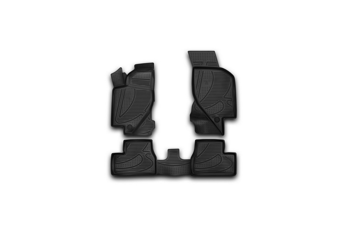 Набор автомобильных 3D-ковриков Novline-Autofamily для Lada Kalina, 2004->, в салон, 4 шт21395599Набор Novline-Autofamily состоит из 4 ковриков, изготовленных из полиуретана.Основная функция ковров - защита салона автомобиля от загрязнения и влаги. Это достигается за счет высоких бортов, перемычки на тоннель заднего ряда сидений, элементов формы и текстуры, свойств материала, а также запатентованной технологией 3D-перемычки в зоне отдыха ноги водителя, что обеспечивает дополнительную защиту, сохраняя салон автомобиля в первозданном виде.Материал, из которого сделаны коврики, обладает антискользящими свойствами. Для фиксации ковров в салоне автомобиля в комплекте с ними используются специальные крепежи. Форма передней части водительского ковра, уходящая под педаль акселератора, исключает нештатное заедание педалей.Набор подходит для Lada Kalina с 2004 года выпуска.