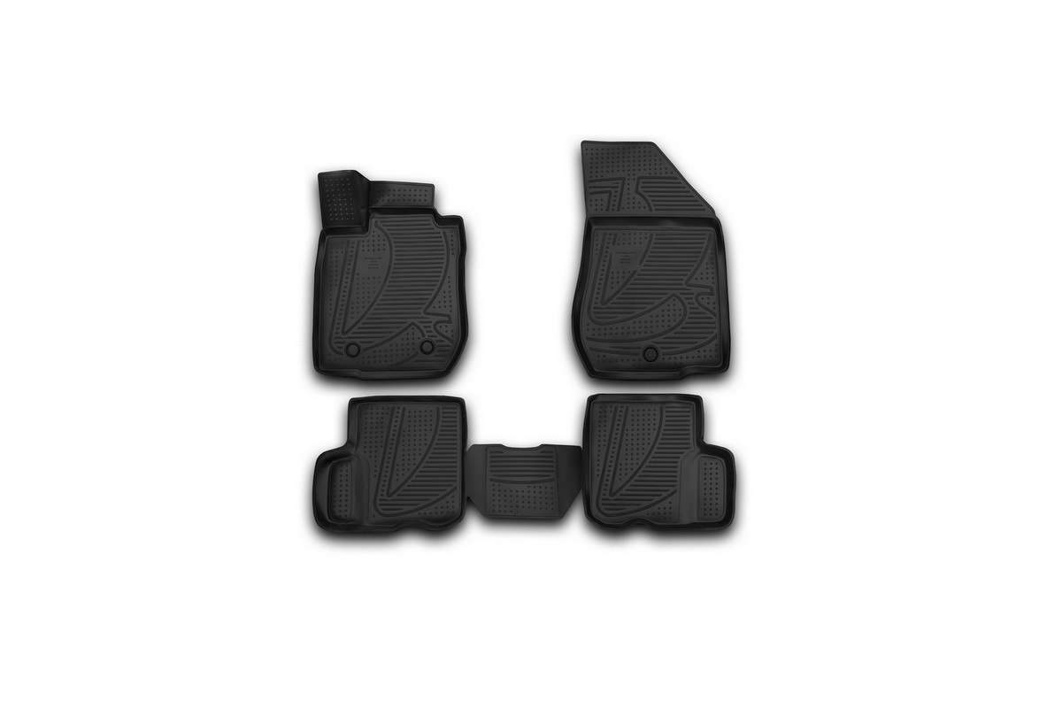 Набор автомобильных 3D-ковриков Novline-Autofamily для Lada Largus, 2012->, в салон, 4 шт94672Набор Novline-Autofamily состоит из 4 ковриков, изготовленных из полиуретана.Основная функция ковров - защита салона автомобиля от загрязнения и влаги. Это достигается за счет высоких бортов, перемычки на тоннель заднего ряда сидений, элементов формы и текстуры, свойств материала, а также запатентованной технологией 3D-перемычки в зоне отдыха ноги водителя, что обеспечивает дополнительную защиту, сохраняя салон автомобиля в первозданном виде.Материал, из которого сделаны коврики, обладает антискользящими свойствами. Для фиксации ковров в салоне автомобиля в комплекте с ними используются специальные крепежи. Форма передней части водительского ковра, уходящая под педаль акселератора, исключает нештатное заедание педалей.Набор подходит для Lada Largus с 2012 года выпуска.