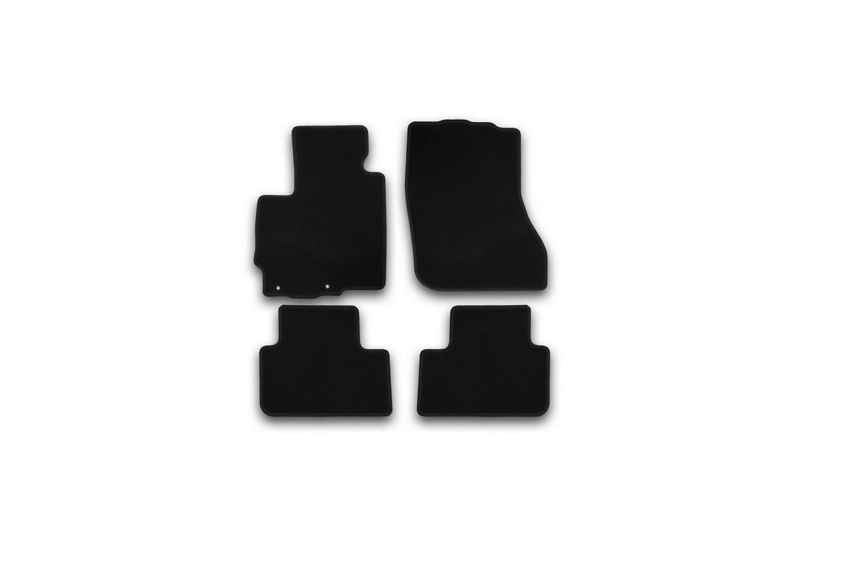 Набор автомобильных ковриков Klever для Mitsubishi ASX 2010-, кроссовер, в салон, 4 шт. KVR01352501200kKVR01352501200kНабор автомобильных ковриков Klever, изготовленный из текстиля, состоит из 4 ковриков, которые учитывают все особенности каждой модели автомобиля и полностью повторяют контуры пола. Текстильные автомобильные коврики для салона произведены из высококачественного материала, который держит форму, прочный и не пачкает обувь. Коврики в салон не только улучшат внешний вид салона вашего автомобиля, но и надежно уберегут его от пыли, грязи и сырости, а значит, защитят кузов от коррозии. Текстильные коврики для автомобиля мягкие и приятные, а их основа из вспененного полиуретана не пропускает влагу. Ковры для автомобилей надежно крепятся на полу и не скользят, что очень важно во время движения. Чистятся коврики очень просто: как при помощи автомобильного пылесоса, так и различными моющими средствами. Набор подходит для Mitsubishi ASX кроссовер с 2010 года выпуска.