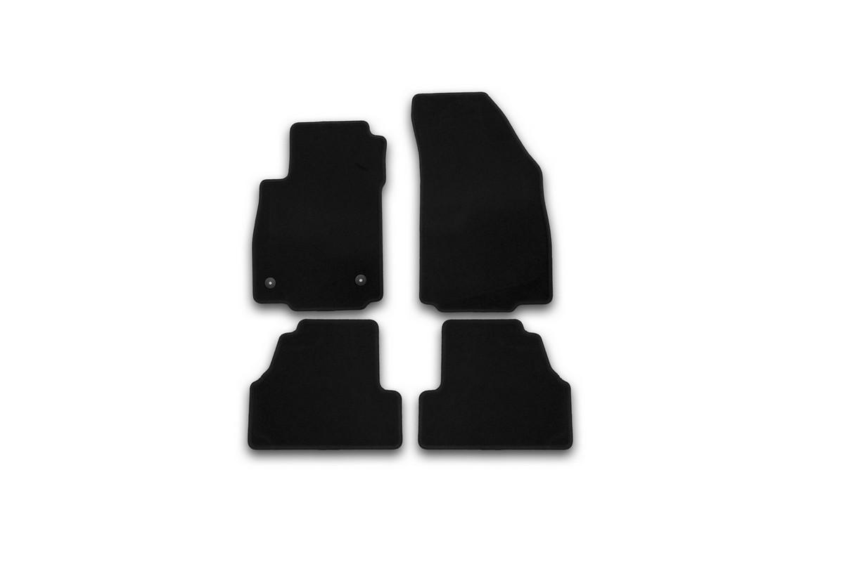 Набор автомобильных ковриков Klever для Opel Mokka 2012-, кроссовер, в салон, 4 шт. KVR01373001200k94672Набор автомобильных ковриков Klever, изготовленный из текстиля, состоит из 4 ковриков, которые учитывают все особенности каждой модели автомобиля и полностью повторяют контуры пола. Текстильные автомобильные коврики для салона произведены из высококачественного материала, который держит форму, прочный и не пачкает обувь. Коврики в салон не только улучшат внешний вид салона вашего автомобиля, но и надежно уберегут его от пыли, грязи и сырости, а значит, защитят кузов от коррозии. Текстильные коврики для автомобиля мягкие и приятные, а их основа из вспененного полиуретана не пропускает влагу. Ковры для автомобилей надежно крепятся на полу и не скользят, что очень важно во время движения. Чистятся коврики очень просто: как при помощи автомобильного пылесоса, так и различными моющими средствами. Набор подходит для Opel Mokka кроссовер с 2012 года выпуска.