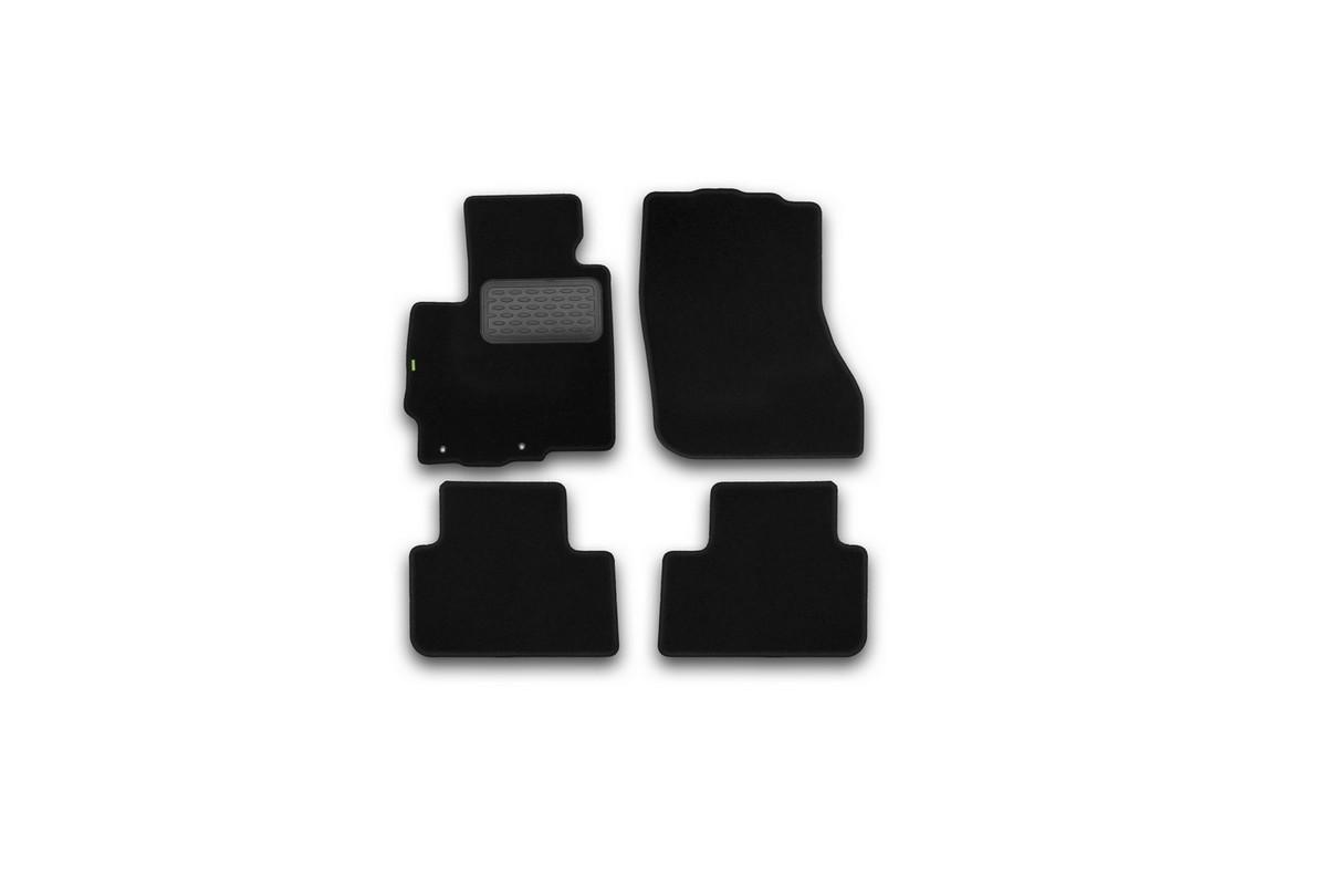Набор автомобильных ковриков Klever для Mitsubishi ASX 2010-, кроссовер, в салон, 4 шт. KVR02352501210khВетерок 2ГФНабор автомобильных ковриков Klever, изготовленный из текстиля, состоит из 4 ковриков, которые учитывают все особенности каждой модели автомобиля и полностью повторяют контуры пола. Текстильные автомобильные коврики для салона произведены из высококачественного материала, который держит форму, прочный и не пачкает обувь. Коврики в салон не только улучшат внешний вид салона вашего автомобиля, но и надежно уберегут его от пыли, грязи и сырости, а значит, защитят кузов от коррозии. Текстильные коврики для автомобиля мягкие и приятные, а их основа из вспененного полиуретана не пропускает влагу. Ковры для автомобилей надежно крепятся на полу и не скользят, что очень важно во время движения. Чистятся коврики очень просто: как при помощи автомобильного пылесоса, так и различными моющими средствами. Набор подходит для Mitsubishi ASX кроссовер с 2010 года выпуска.