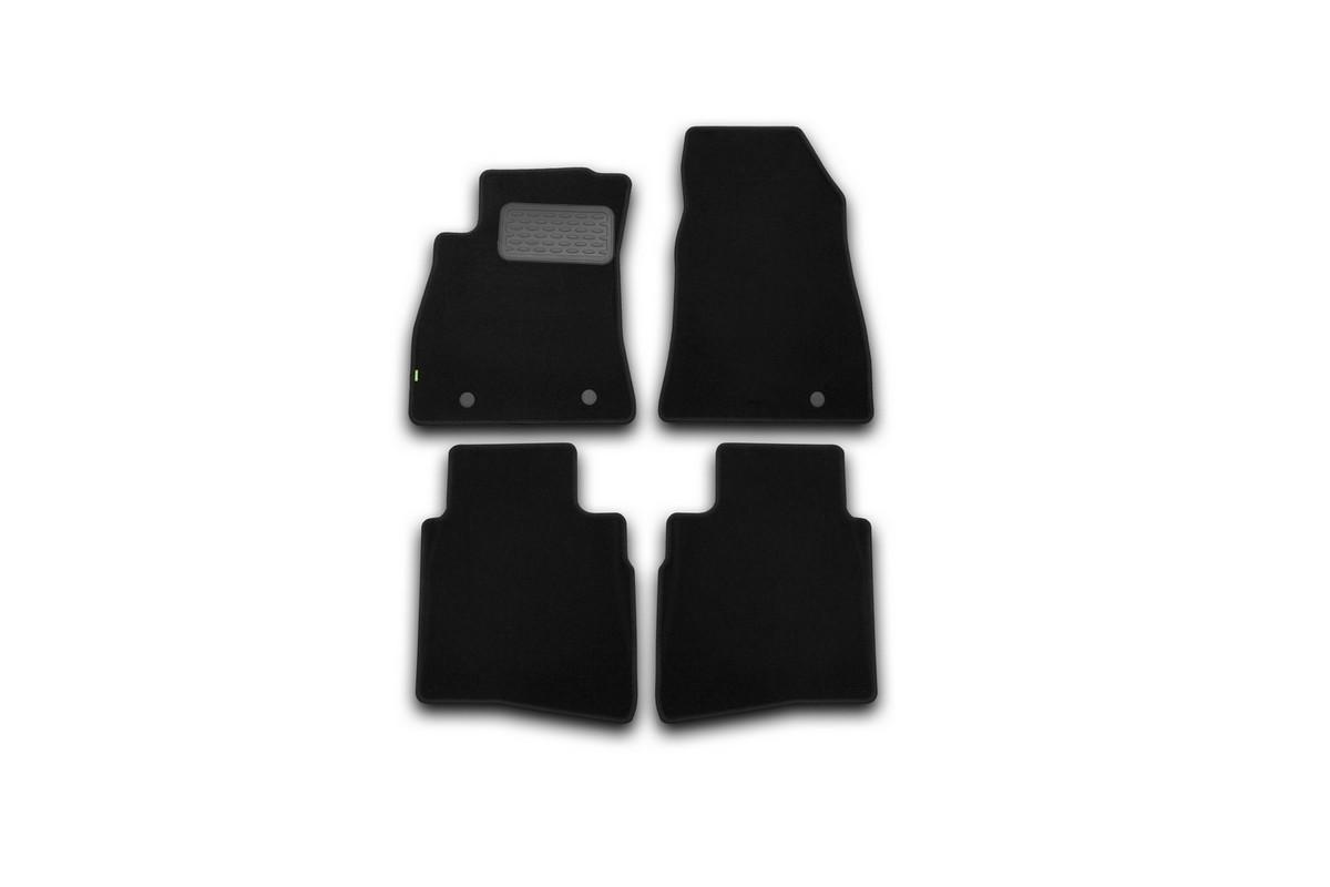 Набор автомобильных ковриков Klever для Nissan Sentra 2014-, седан, в салон, 4 шт. KVR02364101210kh80621Набор автомобильных ковриков Klever, изготовленный из текстиля, состоит из 4 ковриков, которые учитывают все особенности каждой модели автомобиля и полностью повторяют контуры пола. Текстильные автомобильные коврики для салона произведены из высококачественного материала, который держит форму, прочный и не пачкает обувь. Коврики в салон не только улучшат внешний вид салона вашего автомобиля, но и надежно уберегут его от пыли, грязи и сырости, а значит, защитят кузов от коррозии. Текстильные коврики для автомобиля мягкие и приятные, а их основа из вспененного полиуретана не пропускает влагу. Ковры для автомобилей надежно крепятся на полу и не скользят, что очень важно во время движения. Чистятся коврики очень просто: как при помощи автомобильного пылесоса, так и различными моющими средствами. Набор подходит для Nissan Sentra седан с 2014 года выпуска.