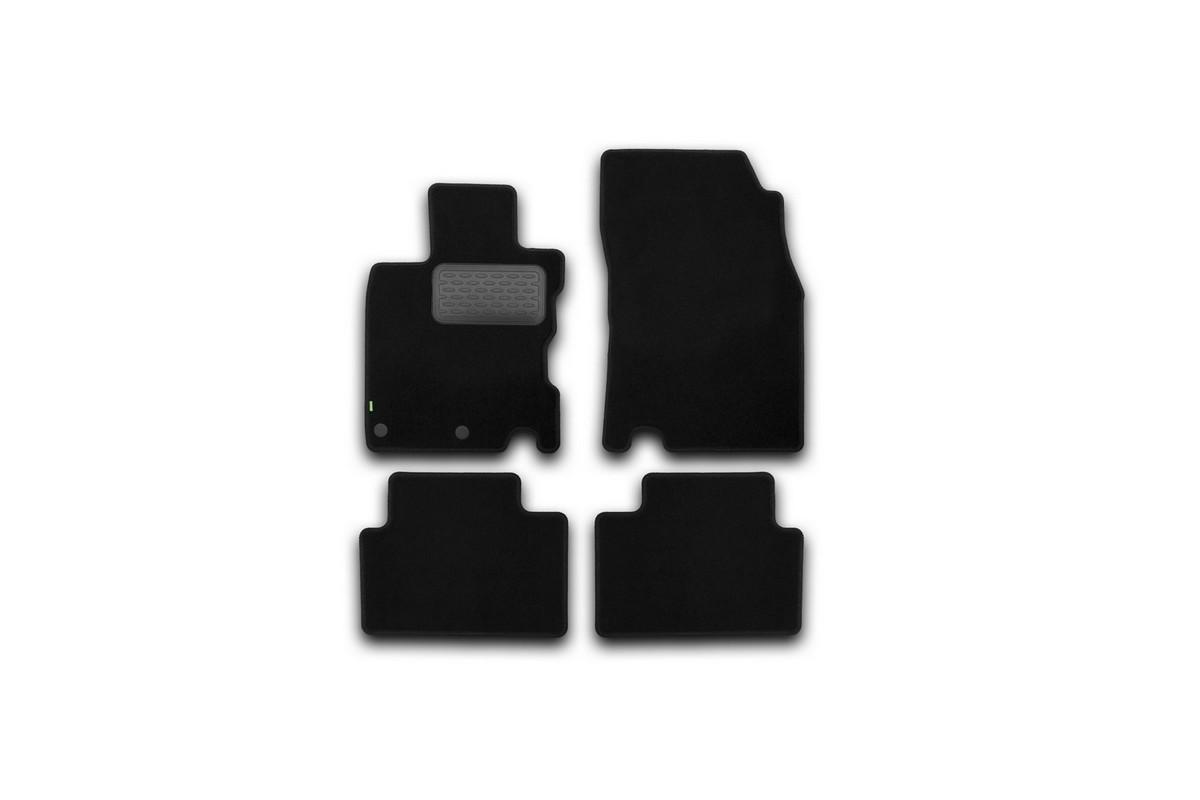 Набор автомобильных ковриков Klever для Nissan Qashqai 2014-, кроссовер, в салон, 4 шт. KVR02364301210kh21395599Набор автомобильных ковриков Klever, изготовленный из текстиля, состоит из 4 ковриков, которые учитывают все особенности каждой модели автомобиля и полностью повторяют контуры пола. Текстильные автомобильные коврики для салона произведены из высококачественного материала, который держит форму, прочный и не пачкает обувь. Коврики в салон не только улучшат внешний вид салона вашего автомобиля, но и надежно уберегут его от пыли, грязи и сырости, а значит, защитят кузов от коррозии. Текстильные коврики для автомобиля мягкие и приятные, а их основа из вспененного полиуретана не пропускает влагу. Ковры для автомобилей надежно крепятся на полу и не скользят, что очень важно во время движения. Чистятся коврики очень просто: как при помощи автомобильного пылесоса, так и различными моющими средствами. Набор подходит для Nissan Qashqai кроссовер с 2014 года выпуска.