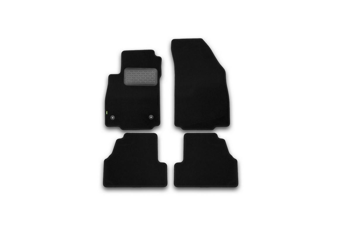 Набор автомобильных ковриков Klever для Opel Mokka 2012-, кроссовер, в салон, 4 шт. KVR02373001210kh80621Набор автомобильных ковриков Klever, изготовленный из текстиля, состоит из 4 ковриков, которые учитывают все особенности каждой модели автомобиля и полностью повторяют контуры пола. Текстильные автомобильные коврики для салона произведены из высококачественного материала, который держит форму, прочный и не пачкает обувь. Коврики в салон не только улучшат внешний вид салона вашего автомобиля, но и надежно уберегут его от пыли, грязи и сырости, а значит, защитят кузов от коррозии. Текстильные коврики для автомобиля мягкие и приятные, а их основа из вспененного полиуретана не пропускает влагу. Ковры для автомобилей надежно крепятся на полу и не скользят, что очень важно во время движения. Чистятся коврики очень просто: как при помощи автомобильного пылесоса, так и различными моющими средствами. Набор подходит для Opel Mokka кроссовер с 2012 года выпуска.