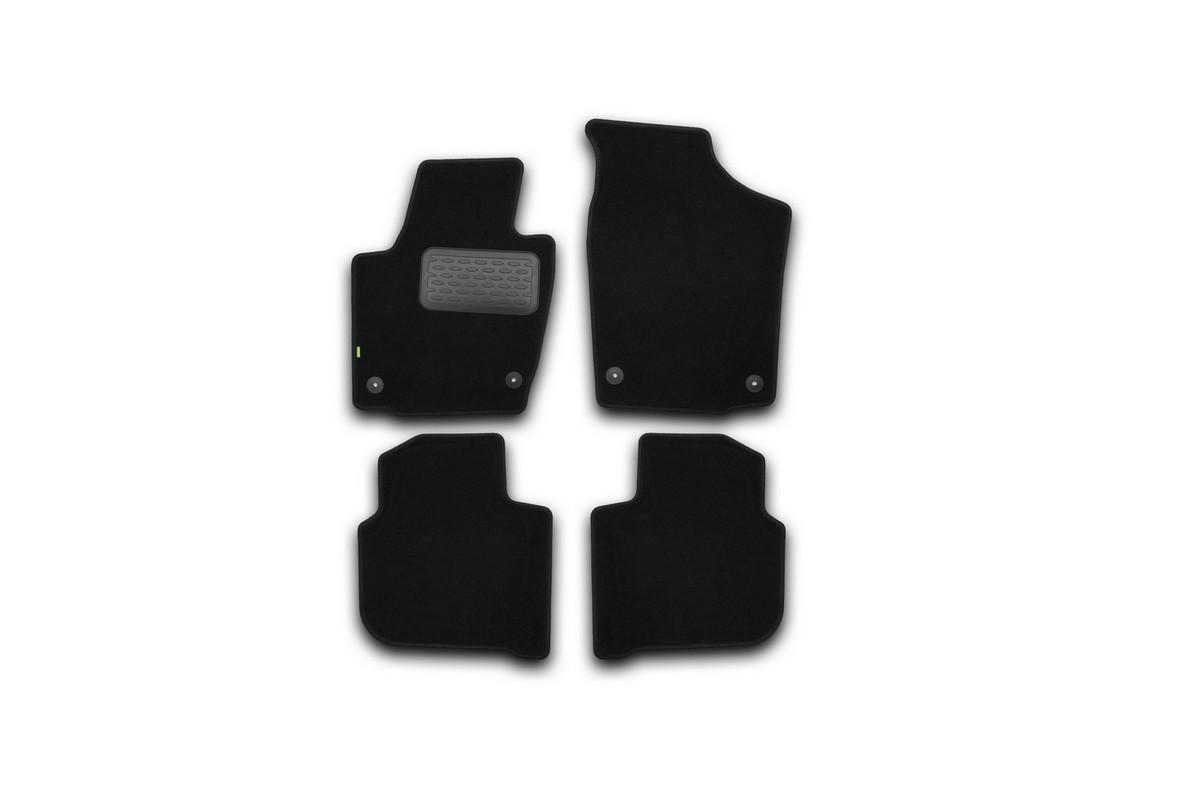 Набор автомобильных ковриков Klever для Skoda Rapid 2012-, седан, в салон, 4 шт. KVR02451701210kh21395599Набор автомобильных ковриков Klever, изготовленный из текстиля, состоит из 4 ковриков, которые учитывают все особенности каждой модели автомобиля и полностью повторяют контуры пола. Текстильные автомобильные коврики для салона произведены из высококачественного материала, который держит форму, прочный и не пачкает обувь. Коврики в салон не только улучшат внешний вид салона вашего автомобиля, но и надежно уберегут его от пыли, грязи и сырости, а значит, защитят кузов от коррозии. Текстильные коврики для автомобиля мягкие и приятные, а их основа из вспененного полиуретана не пропускает влагу. Ковры для автомобилей надежно крепятся на полу и не скользят, что очень важно во время движения. Чистятся коврики очень просто: как при помощи автомобильного пылесоса, так и различными моющими средствами. Набор подходит для Skoda Rapid седан с 2012 года выпуска.