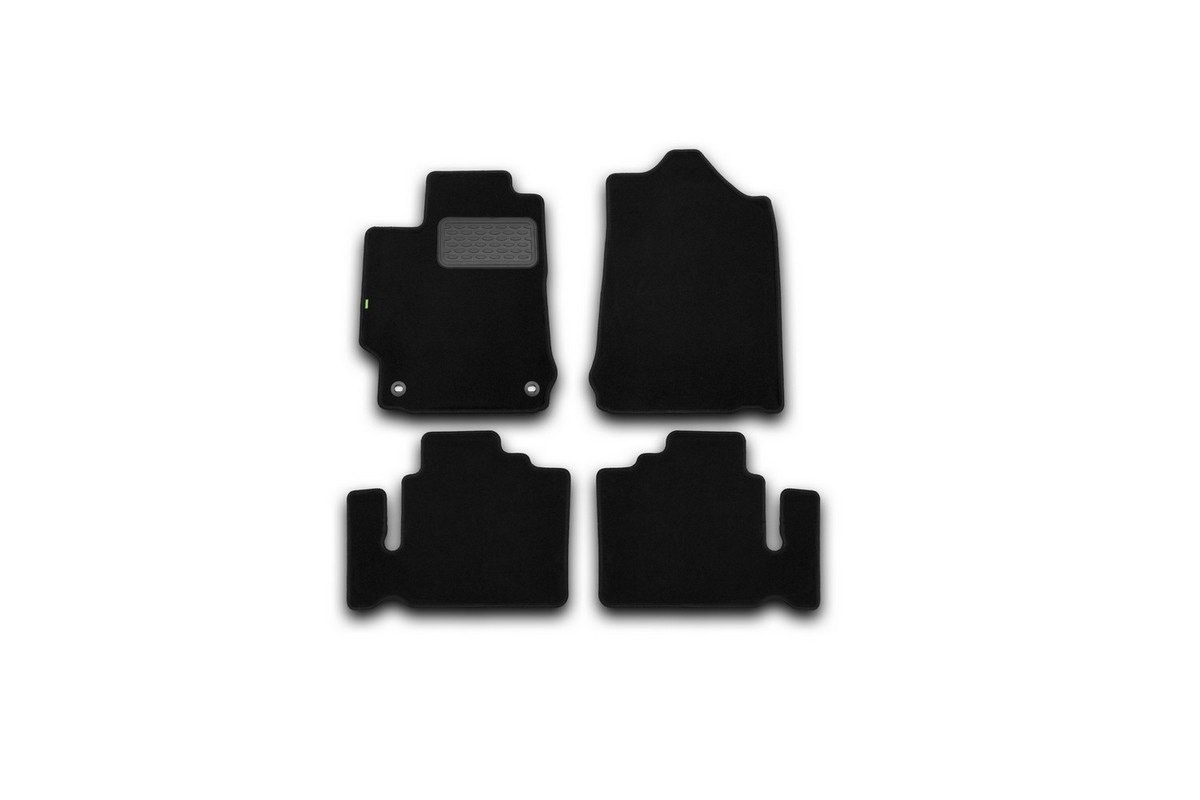 Набор автомобильных ковриков Klever для Toyota Camry 2011-, седан, в салон, 4 шт. KVR02485601210kh98298123_черныйНабор автомобильных ковриков Klever, изготовленный из текстиля, состоит из 4 ковриков, которые учитывают все особенности каждой модели автомобиля и полностью повторяют контуры пола. Текстильные автомобильные коврики для салона произведены из высококачественного материала, который держит форму, прочный и не пачкает обувь. Коврики в салон не только улучшат внешний вид салона вашего автомобиля, но и надежно уберегут его от пыли, грязи и сырости, а значит, защитят кузов от коррозии. Текстильные коврики для автомобиля мягкие и приятные, а их основа из вспененного полиуретана не пропускает влагу. Ковры для автомобилей надежно крепятся на полу и не скользят, что очень важно во время движения. Чистятся коврики очень просто: как при помощи автомобильного пылесоса, так и различными моющими средствами. Набор подходит для Toyota Camry седан с 2011 года выпуска.