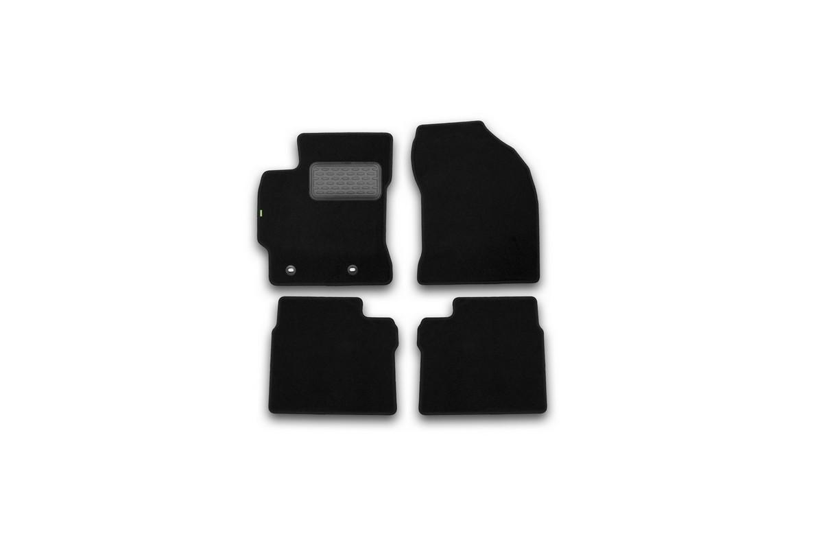 Набор автомобильных ковриков Klever для Toyota Corolla 2013-, седан, в салон, 4 шт. KVR02486901210kh98298130Набор автомобильных ковриков Klever, изготовленный из текстиля, состоит из 4 ковриков, которые учитывают все особенности каждой модели автомобиля и полностью повторяют контуры пола. Текстильные автомобильные коврики для салона произведены из высококачественного материала, который держит форму, прочный и не пачкает обувь. Коврики в салон не только улучшат внешний вид салона вашего автомобиля, но и надежно уберегут его от пыли, грязи и сырости, а значит, защитят кузов от коррозии. Текстильные коврики для автомобиля мягкие и приятные, а их основа из вспененного полиуретана не пропускает влагу. Ковры для автомобилей надежно крепятся на полу и не скользят, что очень важно во время движения. Чистятся коврики очень просто: как при помощи автомобильного пылесоса, так и различными моющими средствами. Набор подходит для Toyota Corolla седан с 2013 года выпуска.