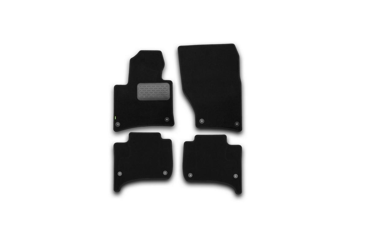 Набор автомобильных ковриков Klever для Volkswagen Touareg 2010-, внедорожник, в салон, 4 шт. KVR02513601210kh98298123_черныйНабор автомобильных ковриков Klever, изготовленный из текстиля, состоит из 4 ковриков, которые учитывают все особенности каждой модели автомобиля и полностью повторяют контуры пола. Текстильные автомобильные коврики для салона произведены из высококачественного материала, который держит форму, прочный и не пачкает обувь. Коврики в салон не только улучшат внешний вид салона вашего автомобиля, но и надежно уберегут его от пыли, грязи и сырости, а значит, защитят кузов от коррозии. Текстильные коврики для автомобиля мягкие и приятные, а их основа из вспененного полиуретана не пропускает влагу. Ковры для автомобилей надежно крепятся на полу и не скользят, что очень важно во время движения. Чистятся коврики очень просто: как при помощи автомобильного пылесоса, так и различными моющими средствами. Набор подходит для Volkswagen Touaregвнедорожник с 2010 года выпуска.