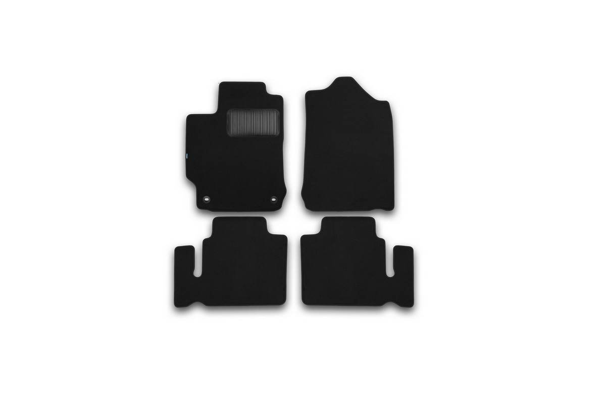 Набор автомобильных ковриков Klever для Toyota Camry 2011-, седан, в салон, 4 шт. KVR03485622110kh21395599Набор автомобильных ковриков Klever, изготовленный из текстиля, состоит из 4 ковриков, которые учитывают все особенности каждой модели автомобиля и полностью повторяют контуры пола. Текстильные автомобильные коврики для салона произведены из высококачественного материала, который держит форму, прочный и не пачкает обувь. Коврики в салон не только улучшат внешний вид салона вашего автомобиля, но и надежно уберегут его от пыли, грязи и сырости, а значит, защитят кузов от коррозии. Текстильные коврики для автомобиля мягкие и приятные, а их основа из вспененного полиуретана не пропускает влагу. Ковры для автомобилей надежно крепятся на полу и не скользят, что очень важно во время движения. Чистятся коврики очень просто: как при помощи автомобильного пылесоса, так и различными моющими средствами. Набор подходит для Toyota Camry седан с 2011 года выпуска.