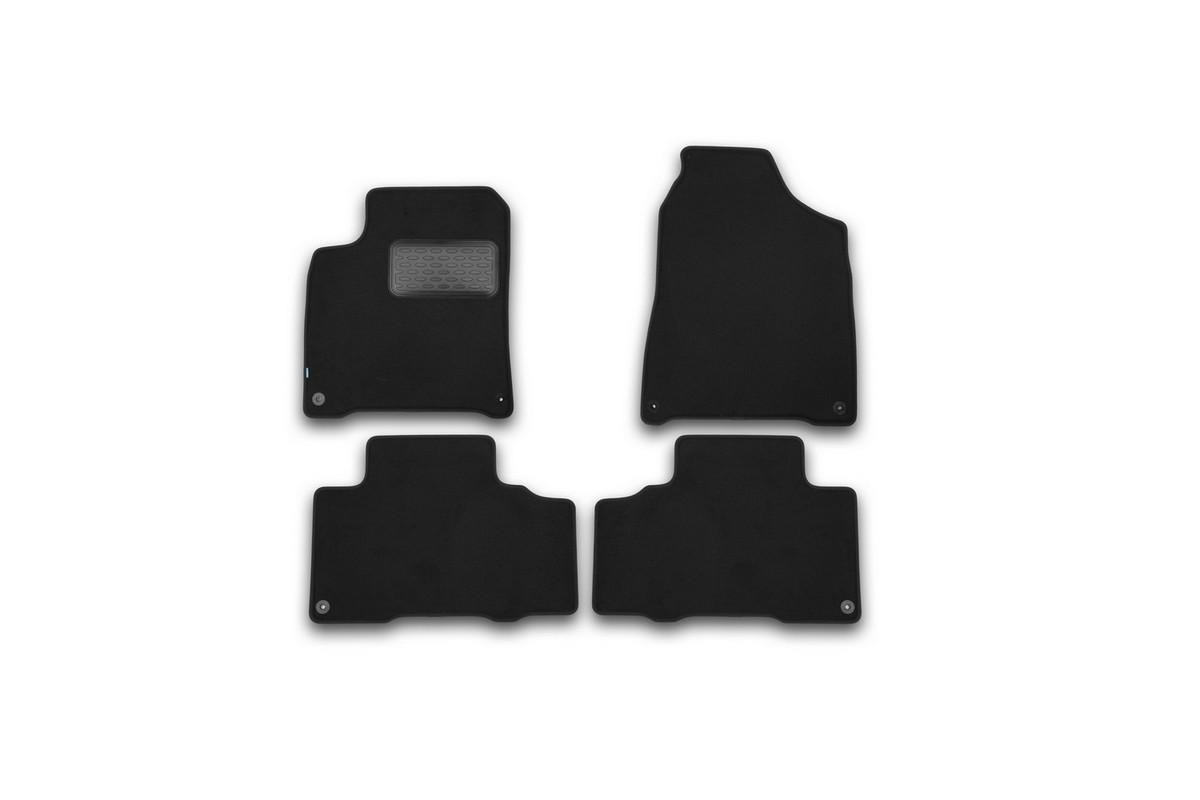 Набор автомобильных ковриков Klever для SsangYong New Actyon 2010-, внедорожник, в салон, 4 шт. KVR03611222110kh21395599Набор автомобильных ковриков Klever, изготовленный из текстиля, состоит из 4 ковриков, которые учитывают все особенности каждой модели автомобиля и полностью повторяют контуры пола. Текстильные автомобильные коврики для салона произведены из высококачественного материала, который держит форму, прочный и не пачкает обувь. Коврики в салон не только улучшат внешний вид салона вашего автомобиля, но и надежно уберегут его от пыли, грязи и сырости, а значит, защитят кузов от коррозии. Текстильные коврики для автомобиля мягкие и приятные, а их основа из вспененного полиуретана не пропускает влагу. Ковры для автомобилей надежно крепятся на полу и не скользят, что очень важно во время движения. Чистятся коврики очень просто: как при помощи автомобильного пылесоса, так и различными моющими средствами. Набор подходит для SsangYong New Actyon внедорожник с 2010 года выпуска.
