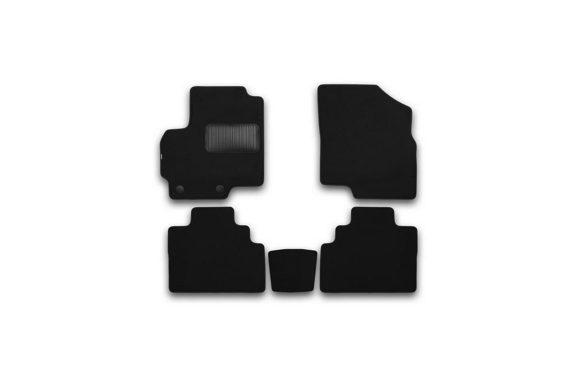 Набор автомобильных ковриков Klever для Chery Tiggo (T21) 2014-, в салон, 5 штNLC.63.04.210Набор автомобильных ковриков Klever, изготовленный из текстиля, состоит из 5 ковриков, которые учитывают все особенности каждой модели автомобиля и полностью повторяют контуры пола. Текстильные автомобильные коврики для салона произведены из высококачественного материала, который держит форму, прочный и не пачкает обувь. Коврики в салон не только улучшат внешний вид салона вашего автомобиля, но и надежно уберегут его от пыли, грязи и сырости, а значит, защитят кузов от коррозии. Текстильные коврики для автомобиля мягкие и приятные, а их основа из вспененного полиуретана не пропускает влагу. Ковры для автомобилей надежно крепятся на полу и не скользят, что очень важно во время движения. Чистятся коврики очень просто: как при помощи автомобильного пылесоса, так и различными моющими средствами. Набор подходит для Chery Tiggo (T21) с 2014 года выпуска.