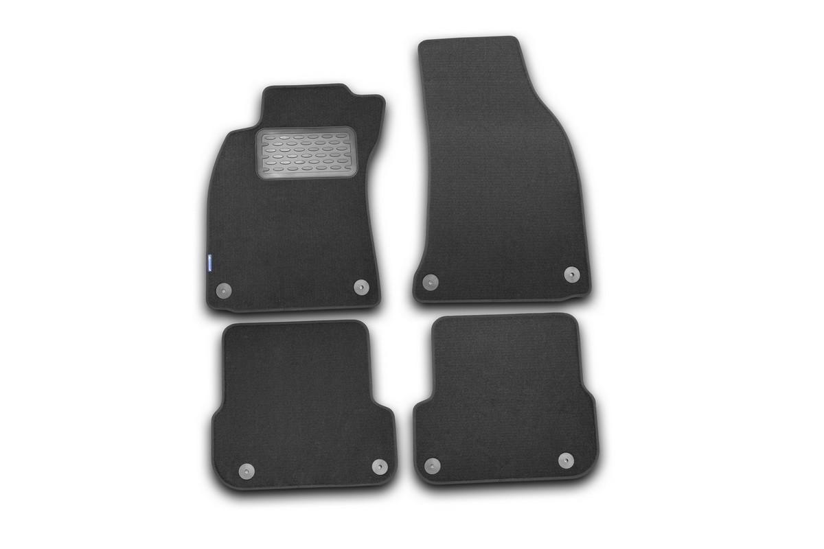 Набор автомобильных ковриков Novline-Autofamily для Audi RS6 АКПП 2008-2010, универсал, в салон, 4 шт. NLT.04.17.11.110khFS-80264Набор автомобильных ковриков Novline-Autofamily, изготовленный из текстиля, состоит из 4 ковриков, которые учитывают все особенности каждой модели автомобиля и полностью повторяют контуры пола. Текстильные автомобильные коврики для салона произведены из высококачественного материала, который держит форму, прочный и не пачкает обувь. Коврики в салон не только улучшат внешний вид салона вашего автомобиля, но и надежно уберегут его от пыли, грязи и сырости, а значит, защитят кузов от коррозии. Текстильные коврики для автомобиля мягкие и приятные, а их основа из вспененного полиуретана не пропускает влагу. Ковры для автомобилей надежно крепятся на полу и не скользят, что очень важно во время движения. Чистятся коврики очень просто: как при помощи автомобильного пылесоса, так и различными моющими средствами. Набор подходит для Audi RS6 АКПП универсал 2008-2010 годов выпуска.