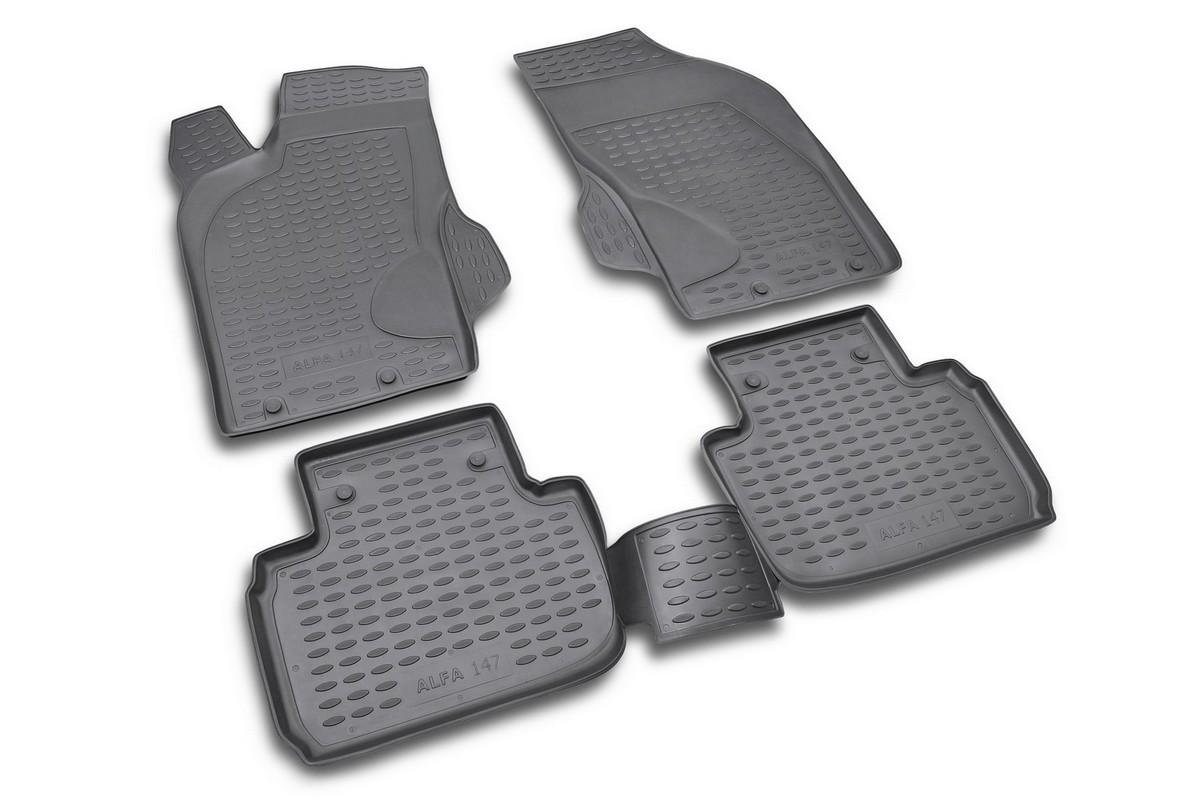 Набор автомобильных ковриков Novline-Autofamily для Alfa Romeo 147 12/2000-, в салон, 4 шт21395599Набор автомобильных ковриков Novline-Autofamily, изготовленный из полиуретана, состоит из 4 ковриков, которые учитывают все особенности каждой модели автомобиля и полностью повторяют контуры пола. Полиуретановые автомобильные коврики для салона произведены из высококачественного материала, который держит форму, прочный и не пачкает обувь. Коврики в салон не только улучшат внешний вид салона вашего автомобиля, но и надежно уберегут его от пыли, грязи и сырости, а значит, защитят кузов от коррозии. Полиуретановые коврики для автомобиля гладкие, приятные и не пропускают влагу. Ковры для автомобилей надежно крепятся на полу и не скользят, что очень важно во время движения. Чистятся коврики очень просто: как при помощи автомобильного пылесоса, так и различными моющими средствами. Набор подходит для Alfa Romeo 147 с декабря 2000 года выпуска.