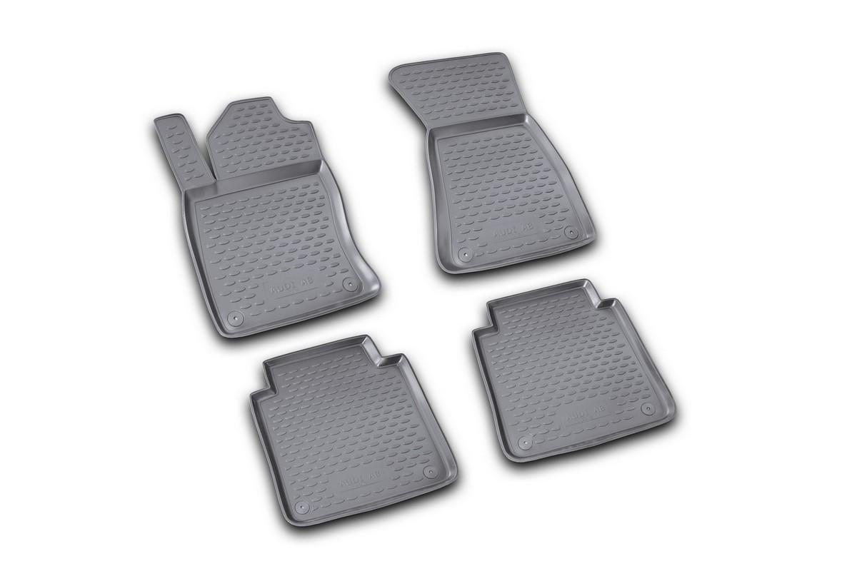 Набор автомобильных ковриков Novline-Autofamily для Audi A-8 Long 02/2002-2009, в салон, цвет: черный 4 штВетерок 2ГФНабор автомобильных ковриков Novline-Autofamily, изготовленный из полиуретана, состоит из 4 ковриков, которые учитывают все особенности каждой модели автомобиля и полностью повторяют контуры пола. Полиуретановые автомобильные коврики для салона произведены из высококачественного материала, который держит форму, прочный и не пачкает обувь. Коврики в салон не только улучшат внешний вид салона вашего автомобиля, но и надежно уберегут его от пыли, грязи и сырости, а значит, защитят кузов от коррозии. Полиуретановые коврики для автомобиля гладкие, приятные и не пропускают влагу. Ковры для автомобилей надежно крепятся на полу и не скользят, что очень важно во время движения. Чистятся коврики очень просто: как при помощи автомобильного пылесоса, так и различными моющими средствами. Набор подходит для Audi A-8 Long февраль 2002 - 2009 года выпуска.
