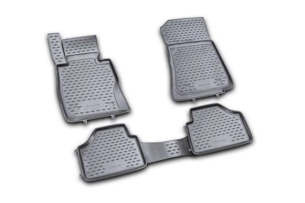 Набор автомобильных ковриков Novline-Autofamily для BMW X1 2009-, в салон, 4 шт21395599Набор автомобильных ковриков Novline-Autofamily, изготовленный из полиуретана, состоит из 4 ковриков, которые учитывают все особенности каждой модели автомобиля и полностью повторяют контуры пола. Полиуретановые автомобильные коврики для салона произведены из высококачественного материала, который держит форму, прочный и не пачкает обувь. Коврики в салон не только улучшат внешний вид салона вашего автомобиля, но и надежно уберегут его от пыли, грязи и сырости, а значит, защитят кузов от коррозии. Полиуретановые коврики для автомобиля гладкие, приятные и не пропускают влагу. Ковры для автомобилей надежно крепятся на полу и не скользят, что очень важно во время движения. Чистятся коврики очень просто: как при помощи автомобильного пылесоса, так и различными моющими средствами. Набор подходит для BMW X1 с 2009 года выпуска.